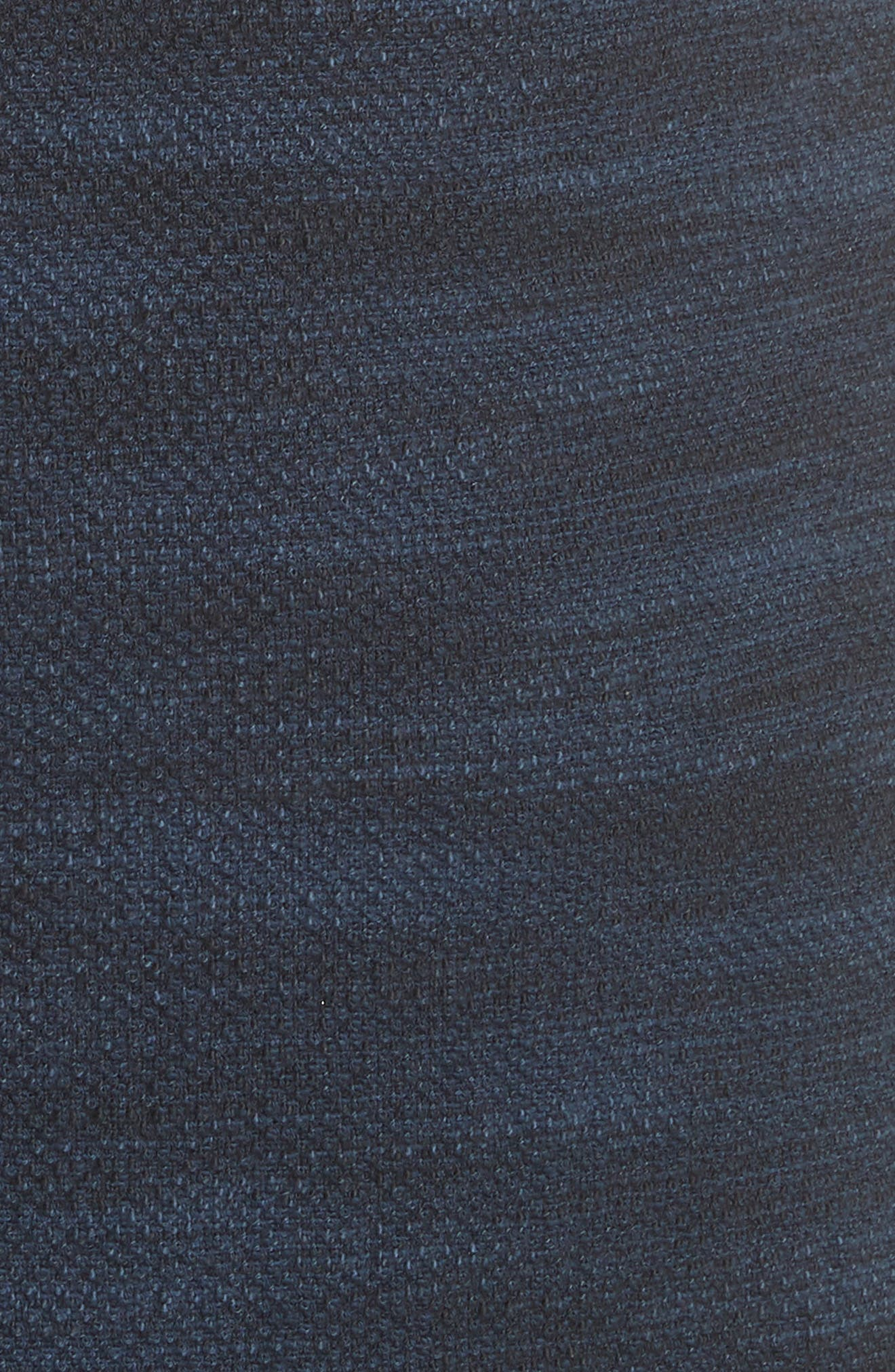 Ruffle Tweed Dress,                             Alternate thumbnail 5, color,                             Navy Combo