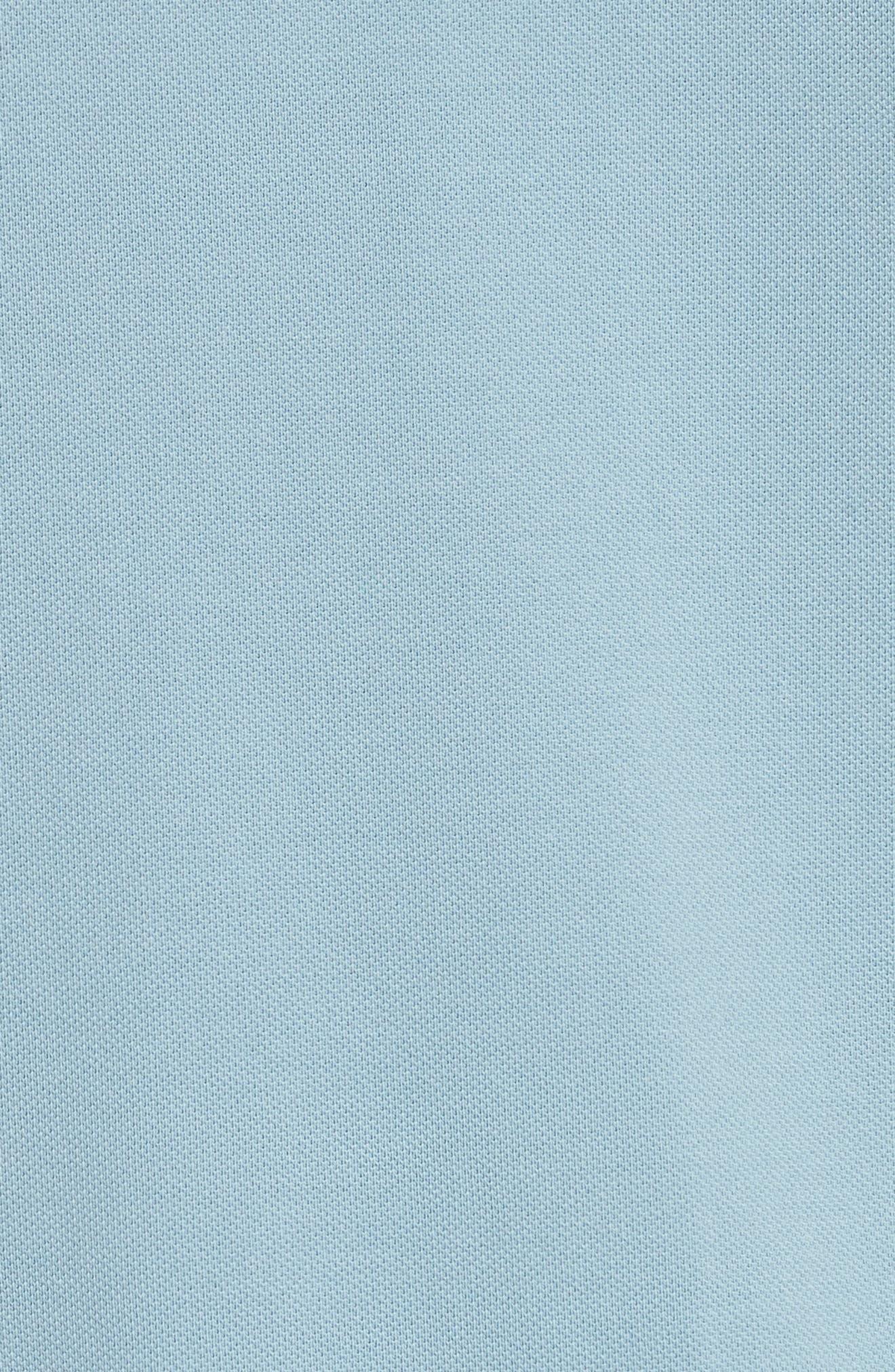 Bedford Abown Piqué Polo,                             Alternate thumbnail 5, color,                             Dusty Teal Blue