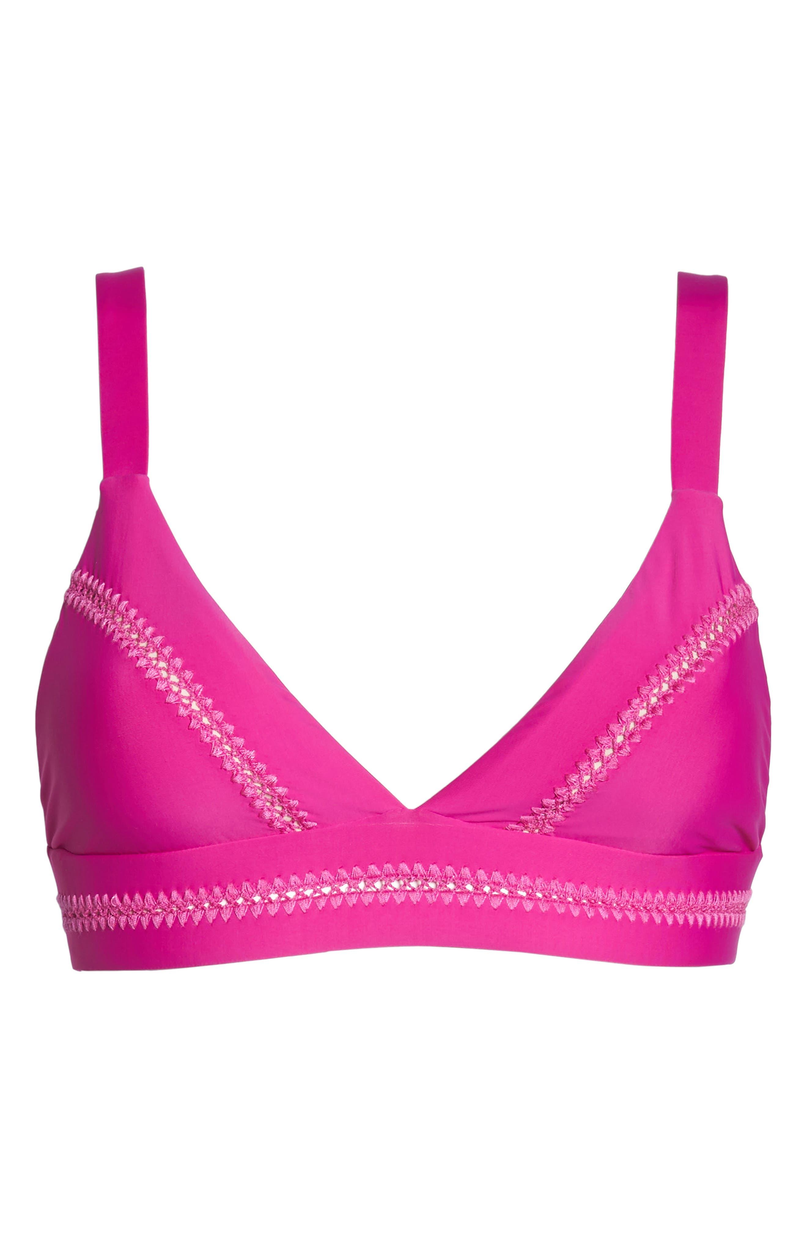 Stitched Elle Halter Bikini Top,                             Alternate thumbnail 10, color,                             Fuchsia