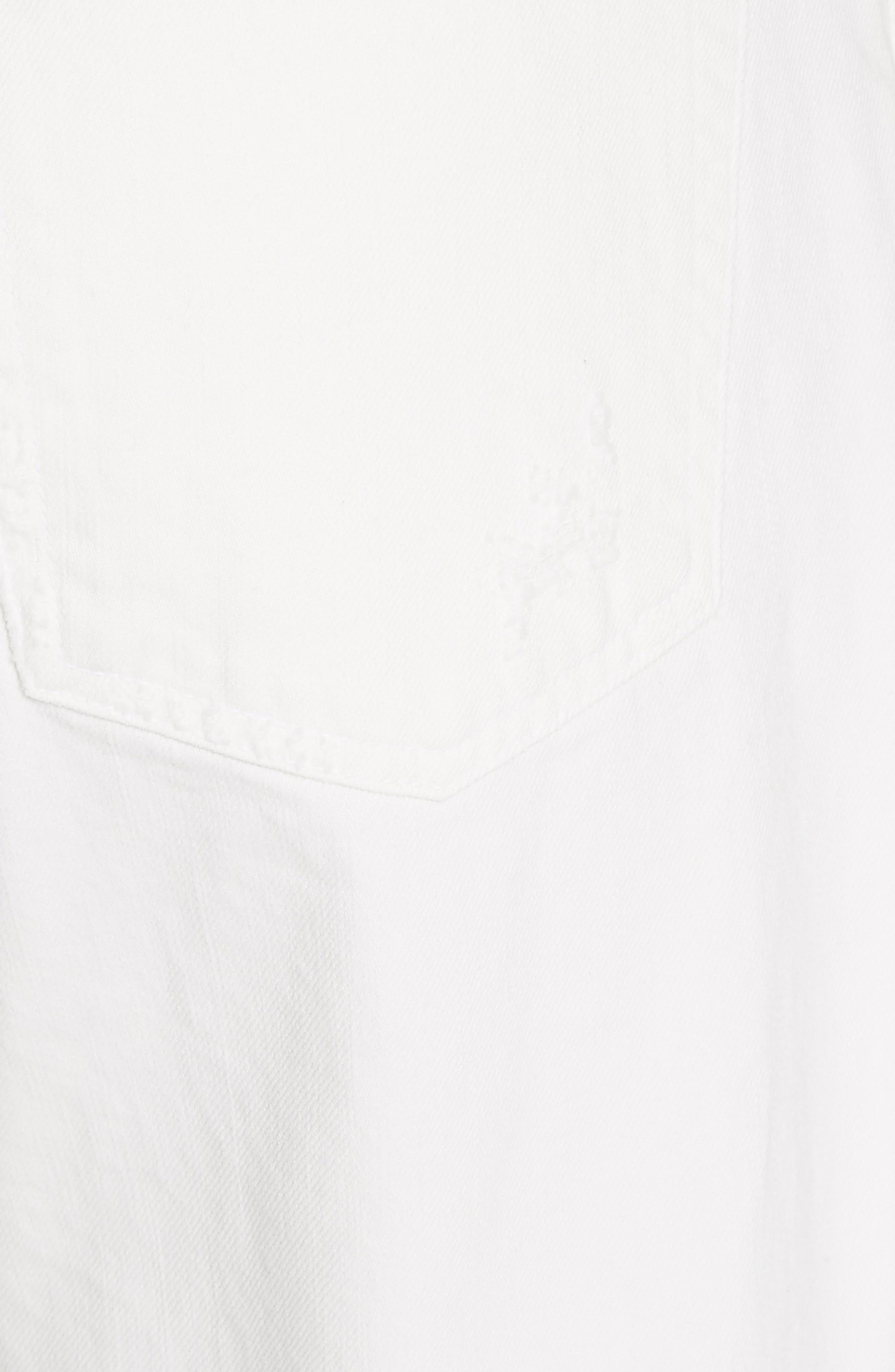 Flip Straight Leg Jeans,                             Alternate thumbnail 5, color,                             White Sand