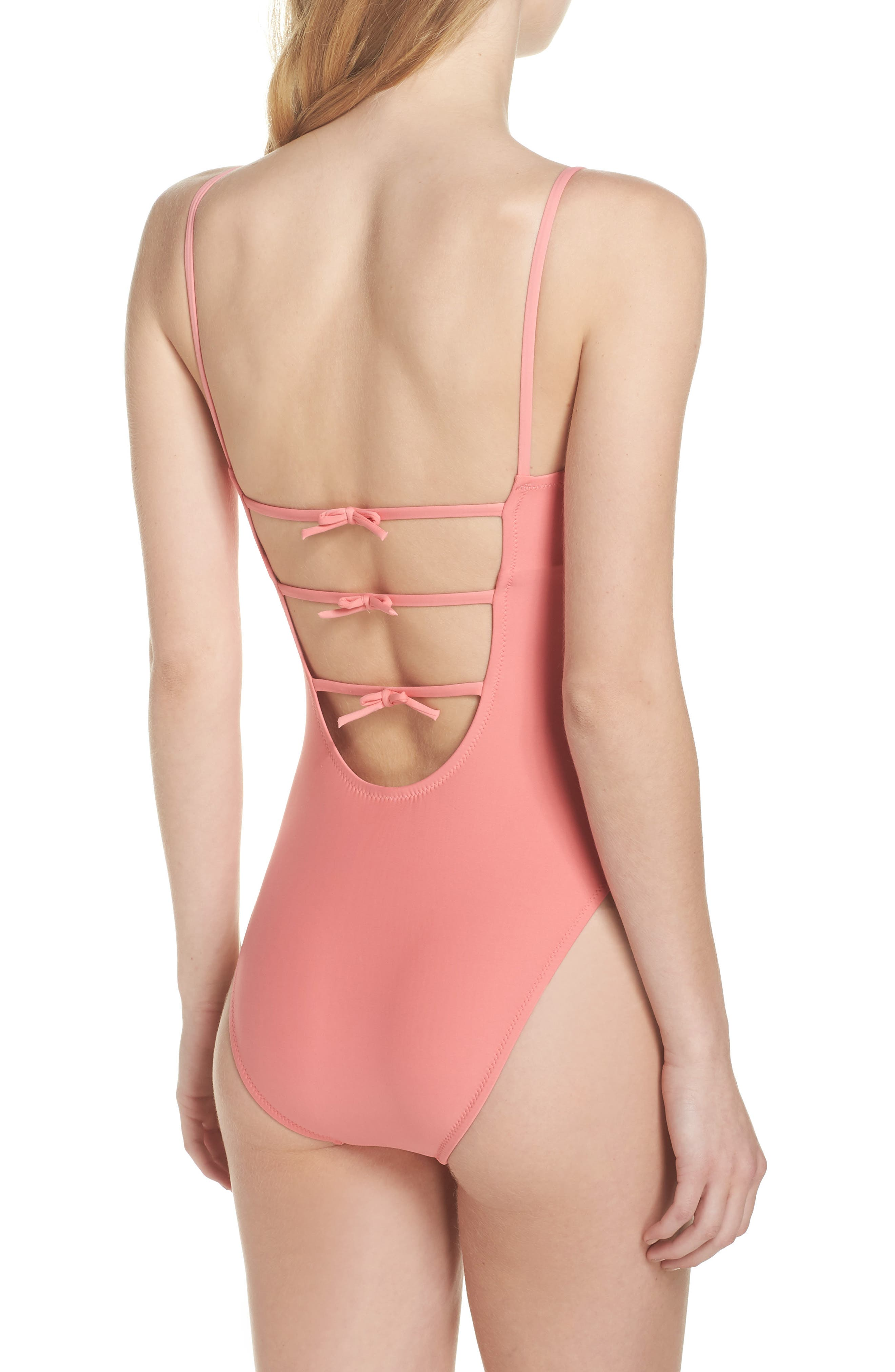 J.Crew Maggie Baby Bow Back One-Piece Swimsuit
