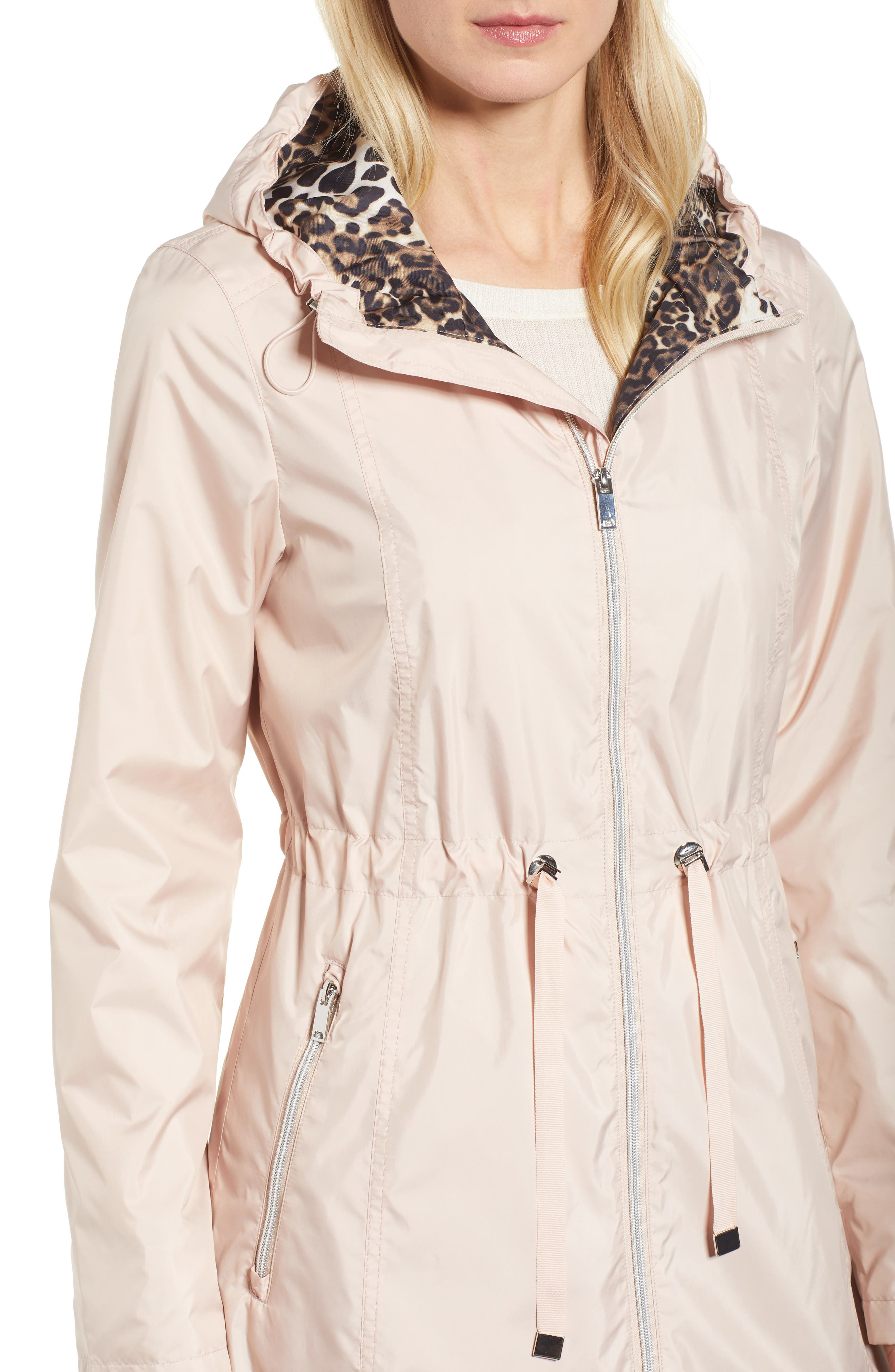 Packable Hooded Anorak,                             Alternate thumbnail 3, color,                             Rose Blush