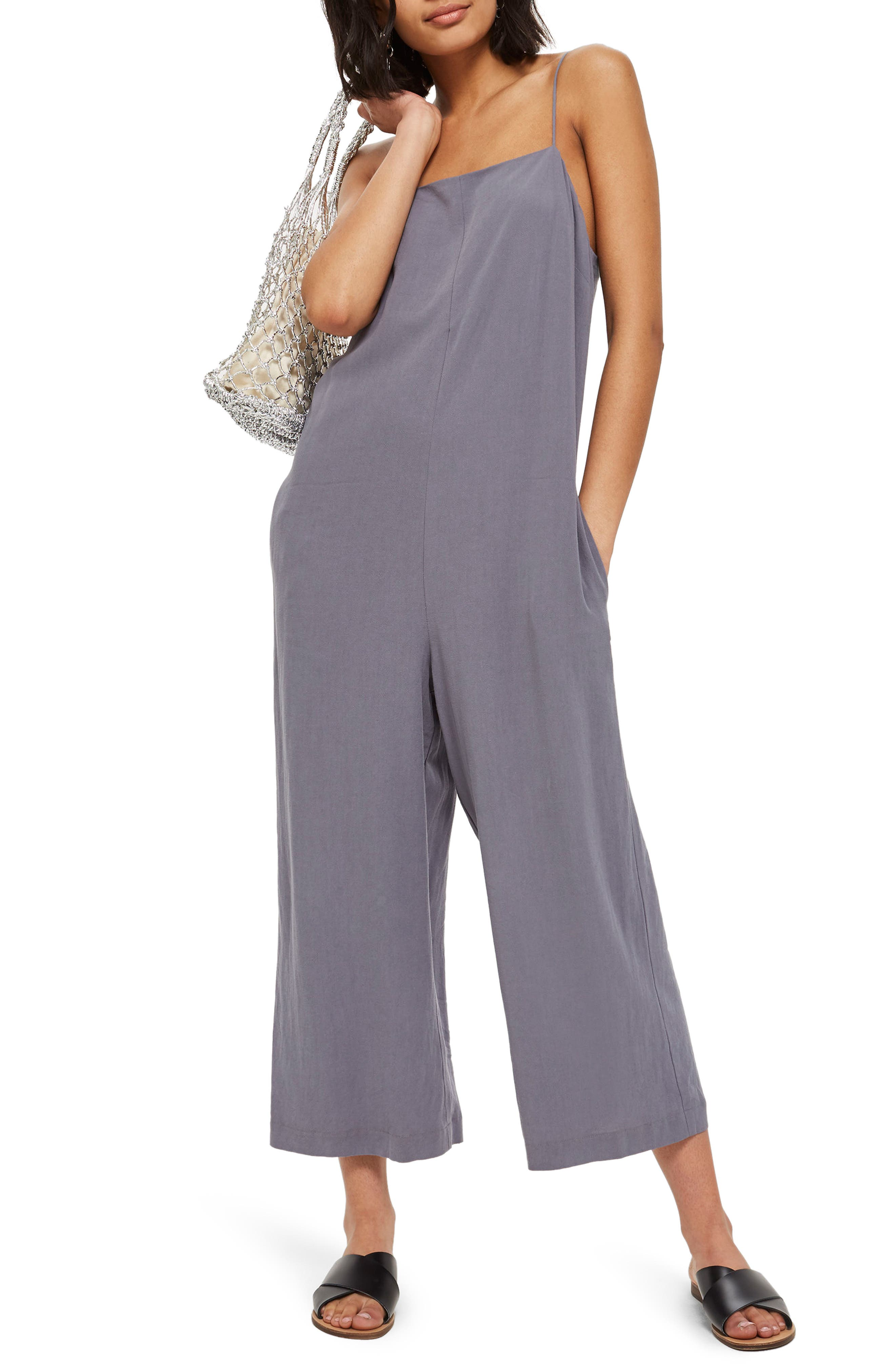 Alternate Image 1 Selected - Topshop Molly Square Neck Slouch Jumpsuit