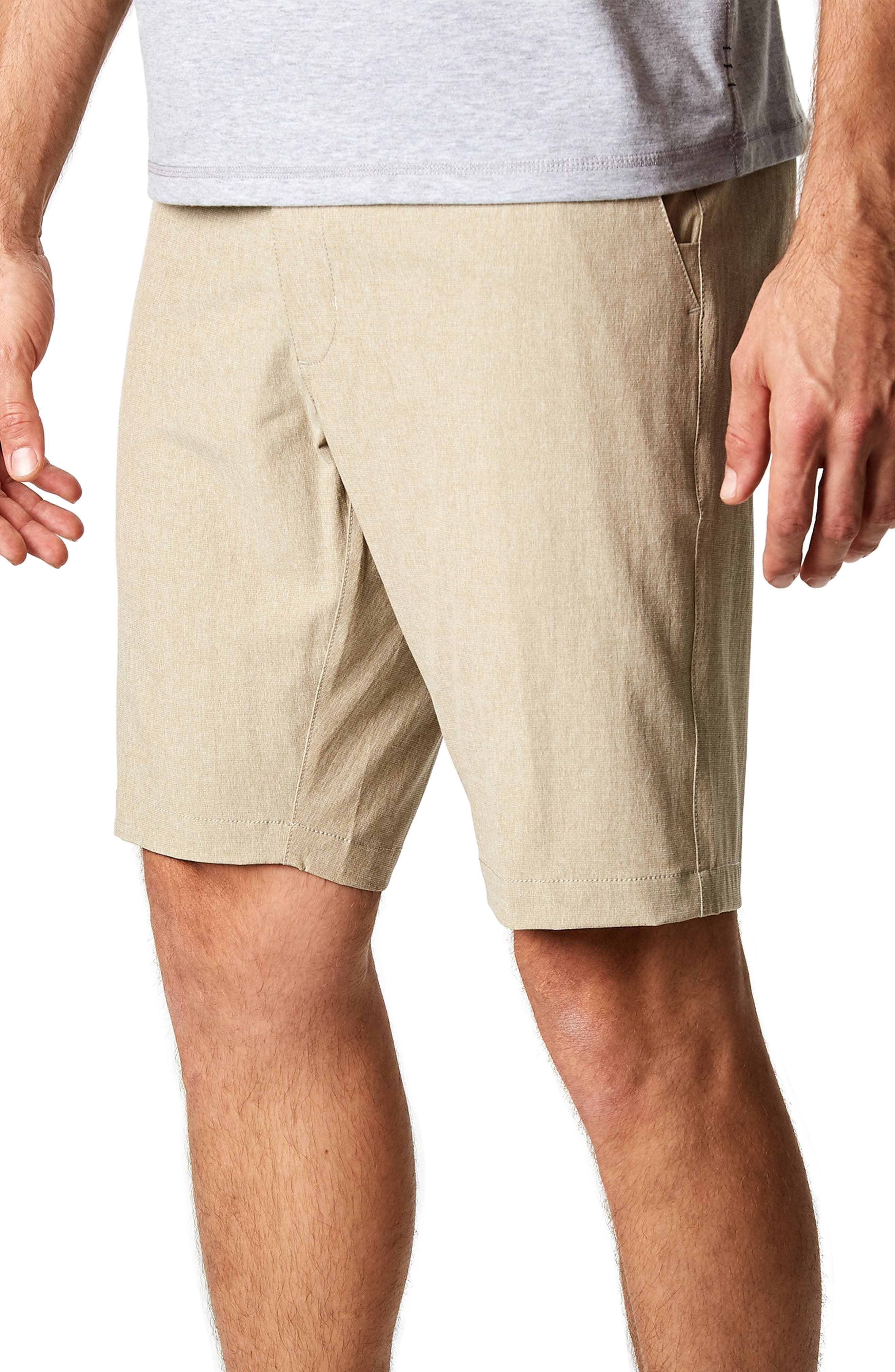 Adrenaline Stretch Shorts,                             Alternate thumbnail 3, color,                             Khaki