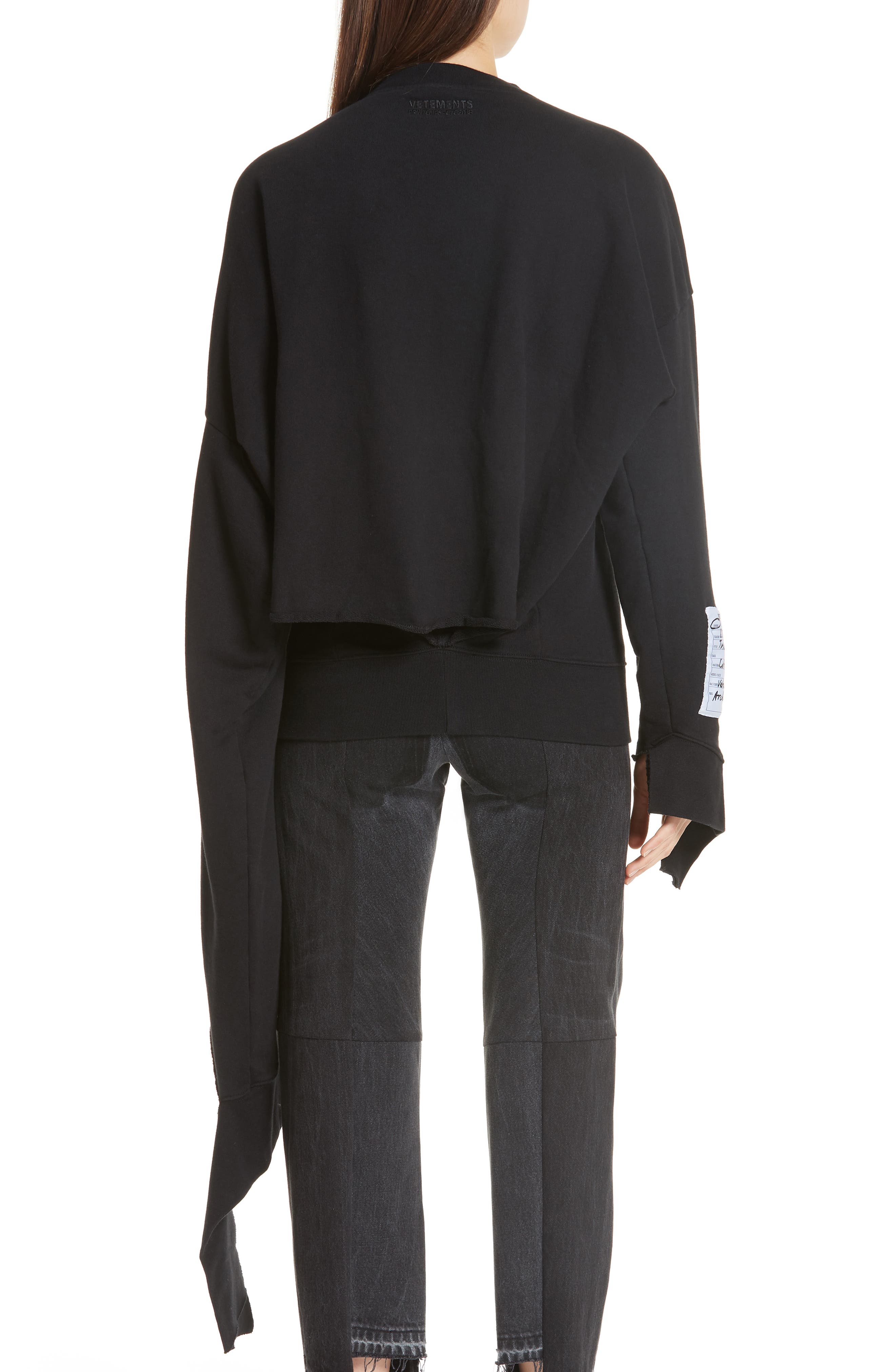 In Progress Crewneck Sweatshirt,                             Alternate thumbnail 2, color,                             Black