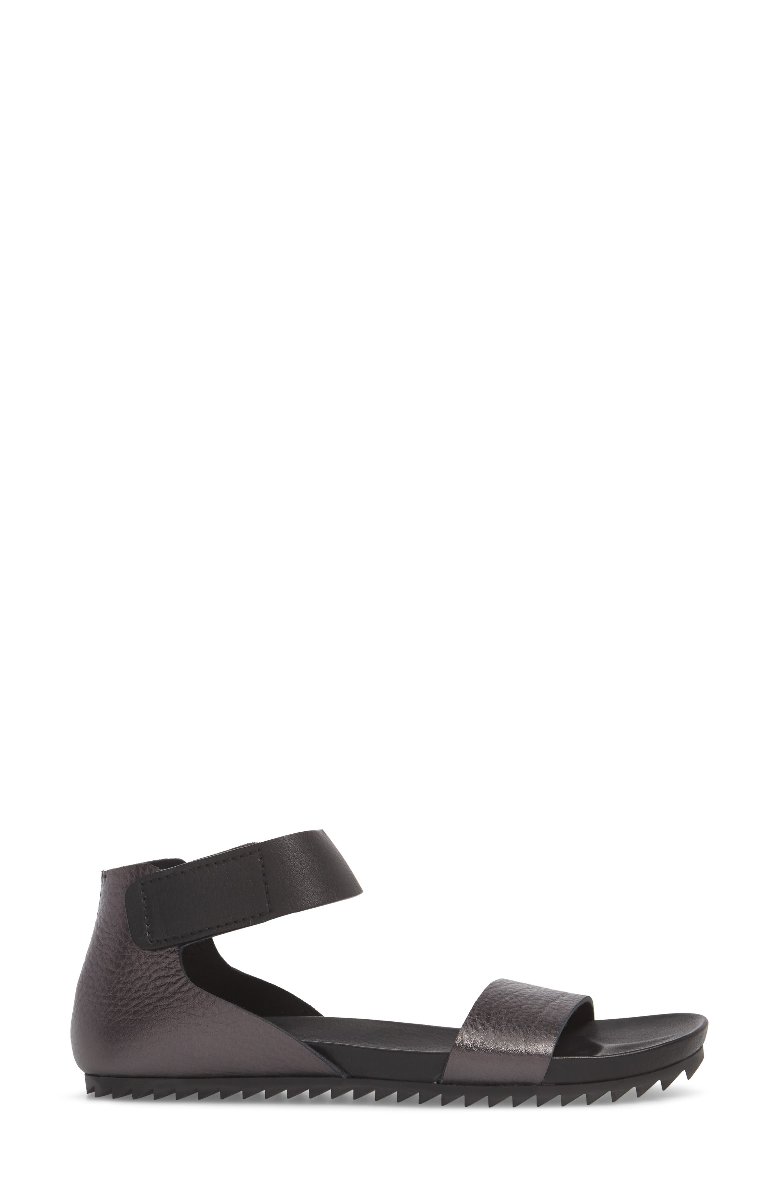 Jalila Ankle Strap Sandal,                             Alternate thumbnail 3, color,                             Fox Cervo Lame