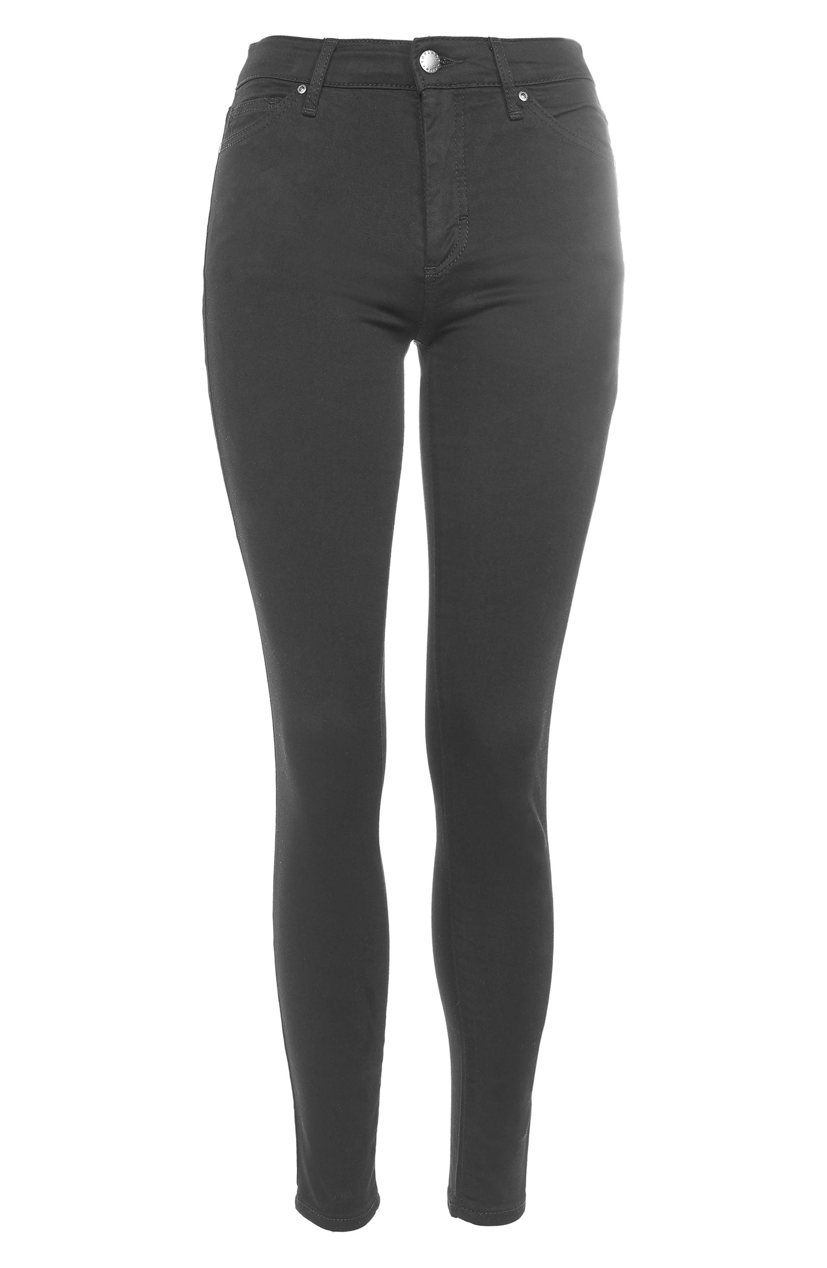 Leigh Jeans,                             Alternate thumbnail 3, color,                             Black