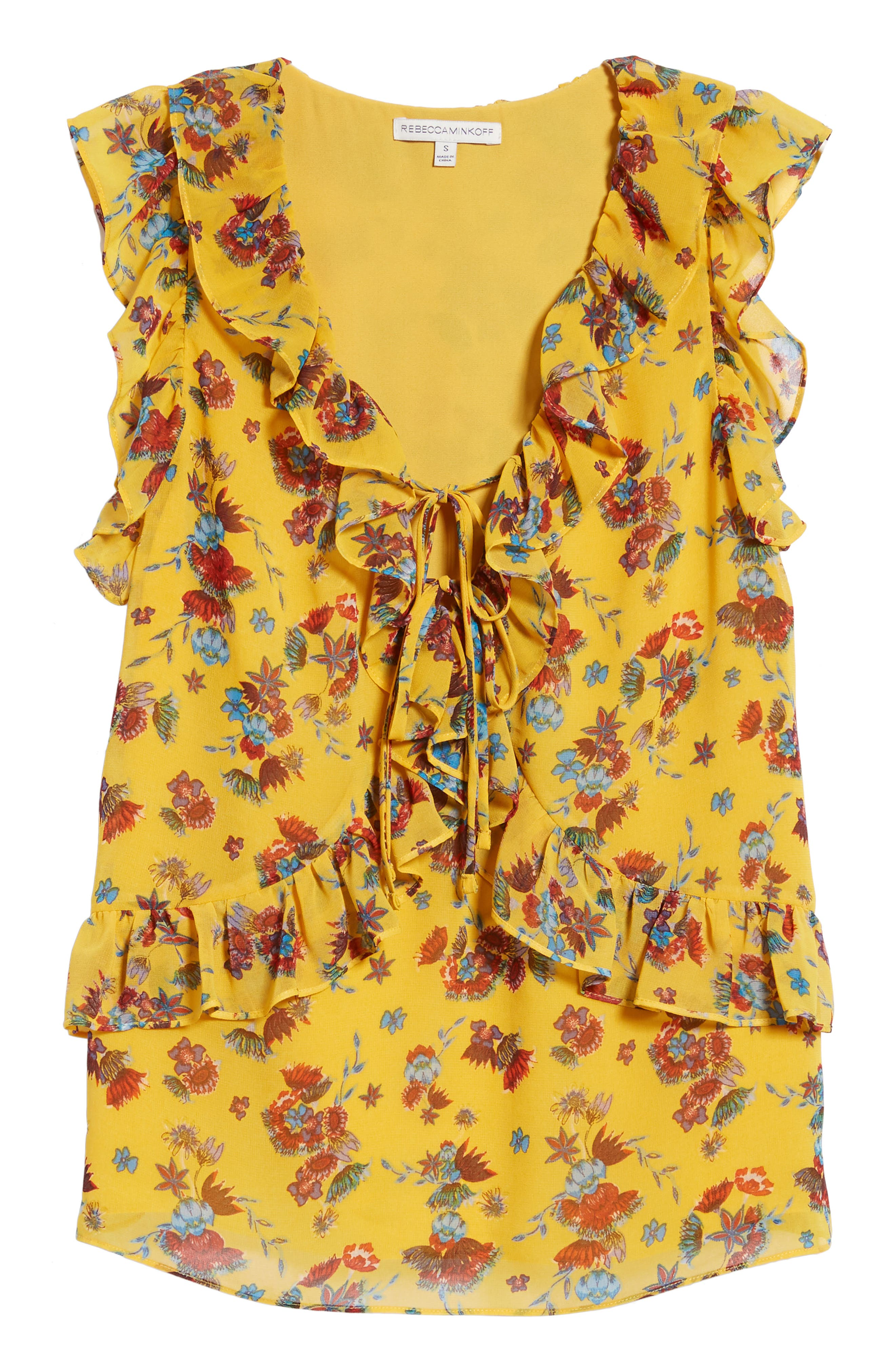 Daisy Top,                             Alternate thumbnail 7, color,                             Yellow Multi