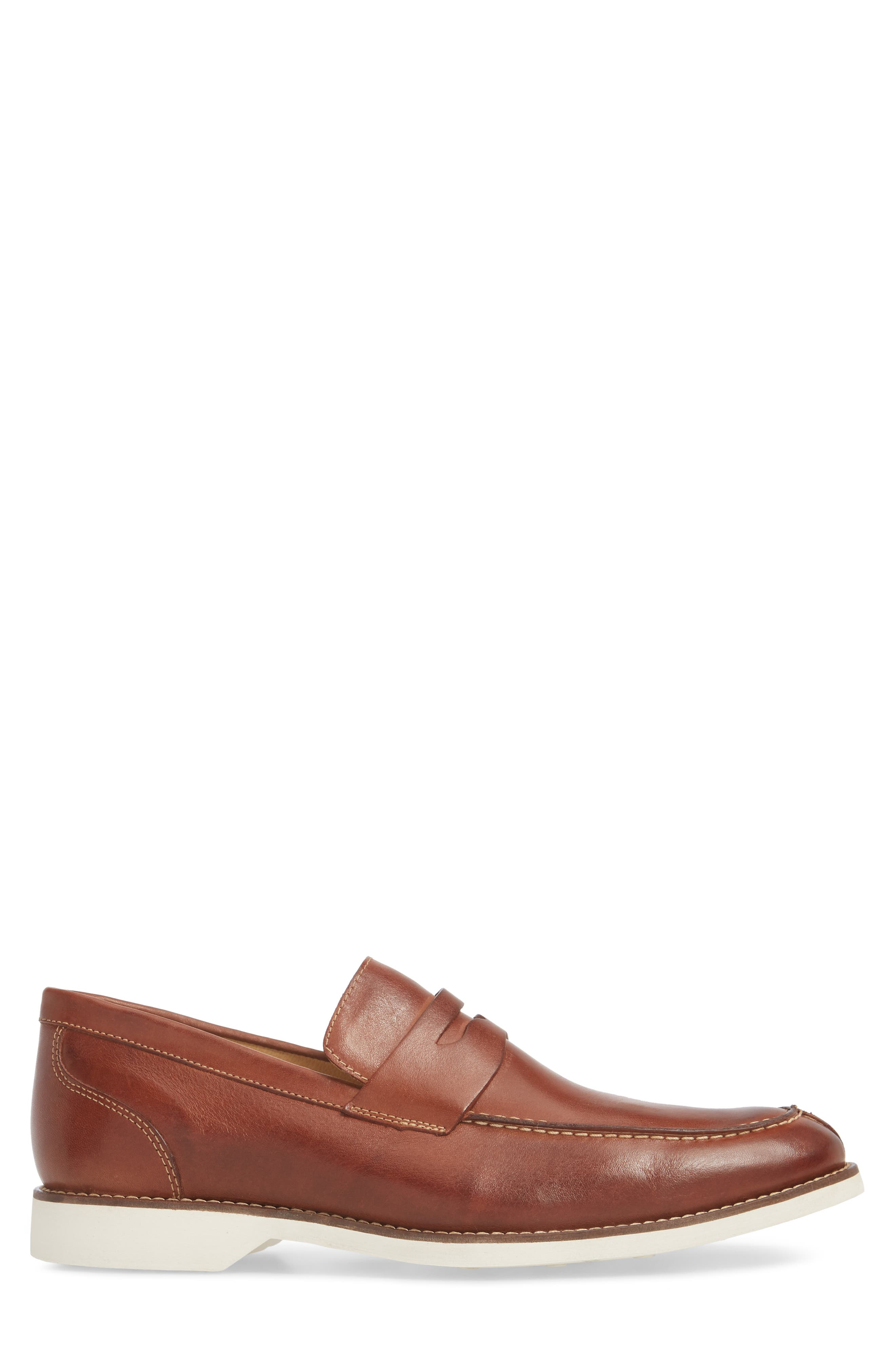 Senador Penny Loafer,                             Alternate thumbnail 3, color,                             Touch Havana Leather