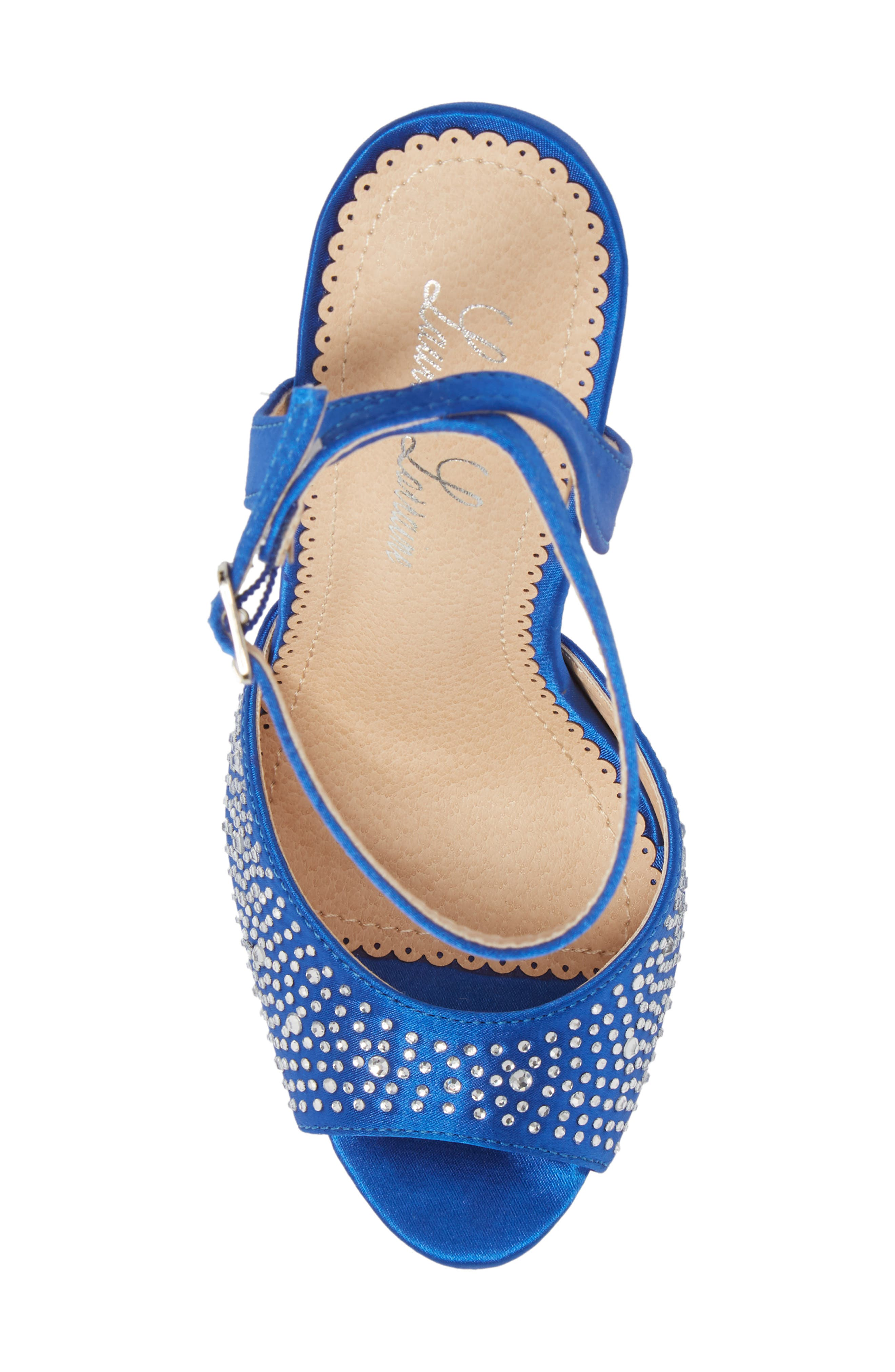 Tavi Sandal,                             Alternate thumbnail 5, color,                             Royal Blue Fabric