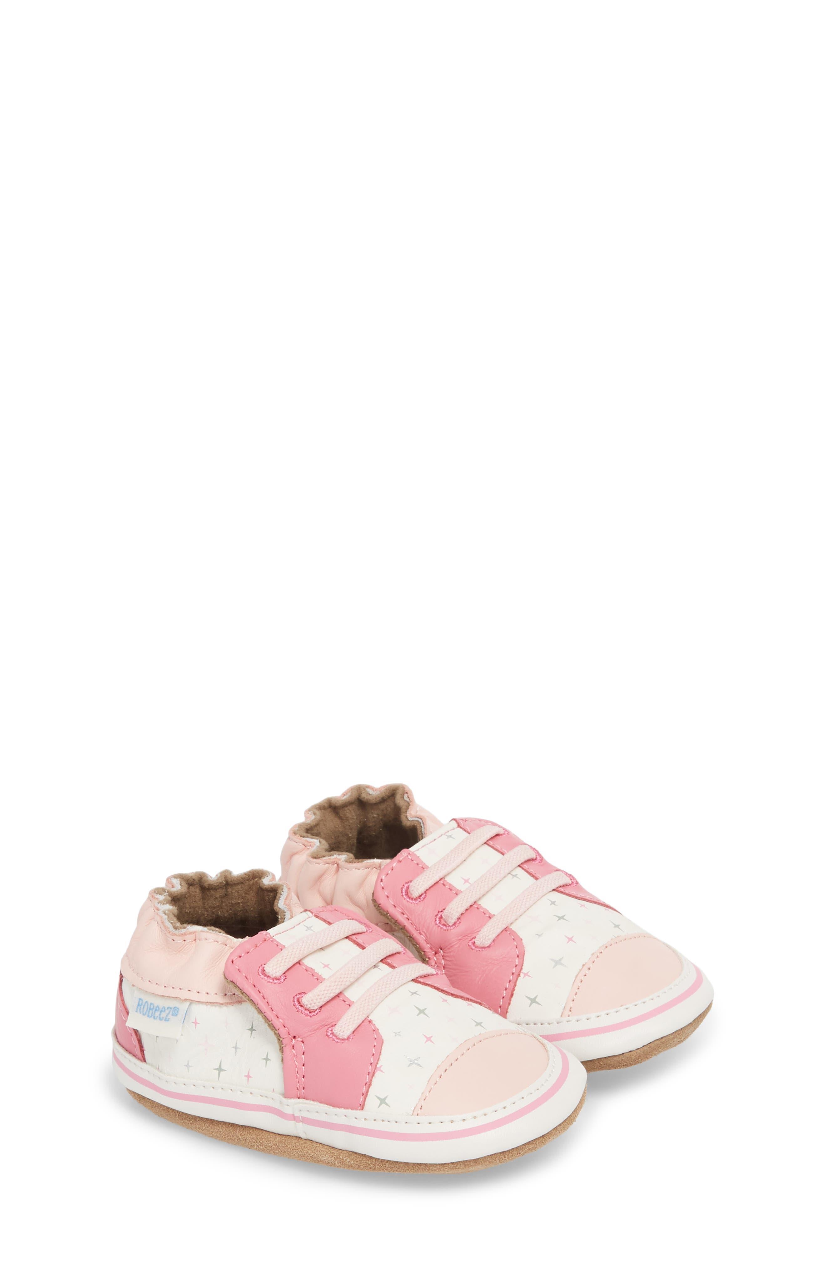 Alternate Image 3  - Robeez® Trendy Trainer Sneaker Crib Shoe (Baby)