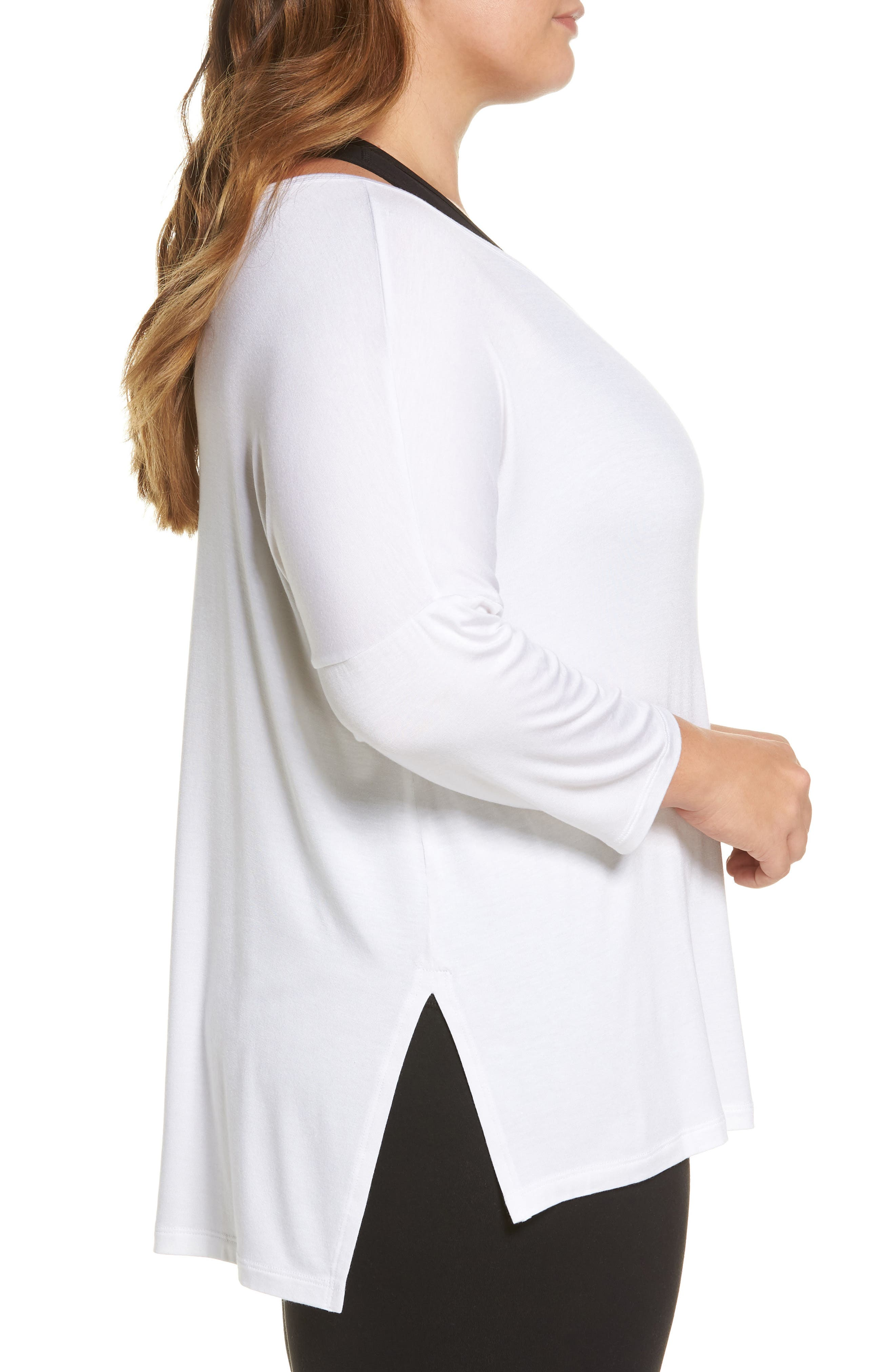 Slink It Boxy Pullover,                             Alternate thumbnail 3, color,                             White
