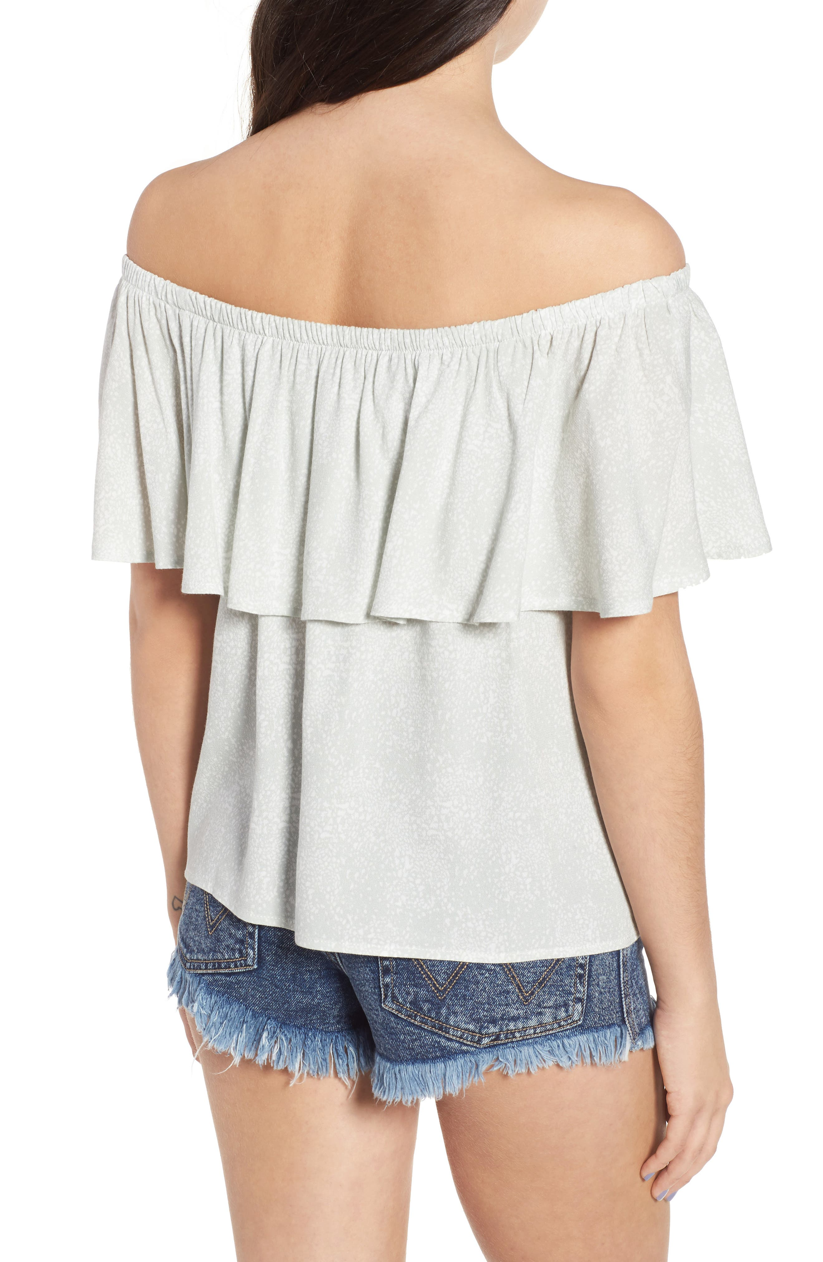 Mary Off the Shoulder Top,                             Alternate thumbnail 2, color,                             Dew