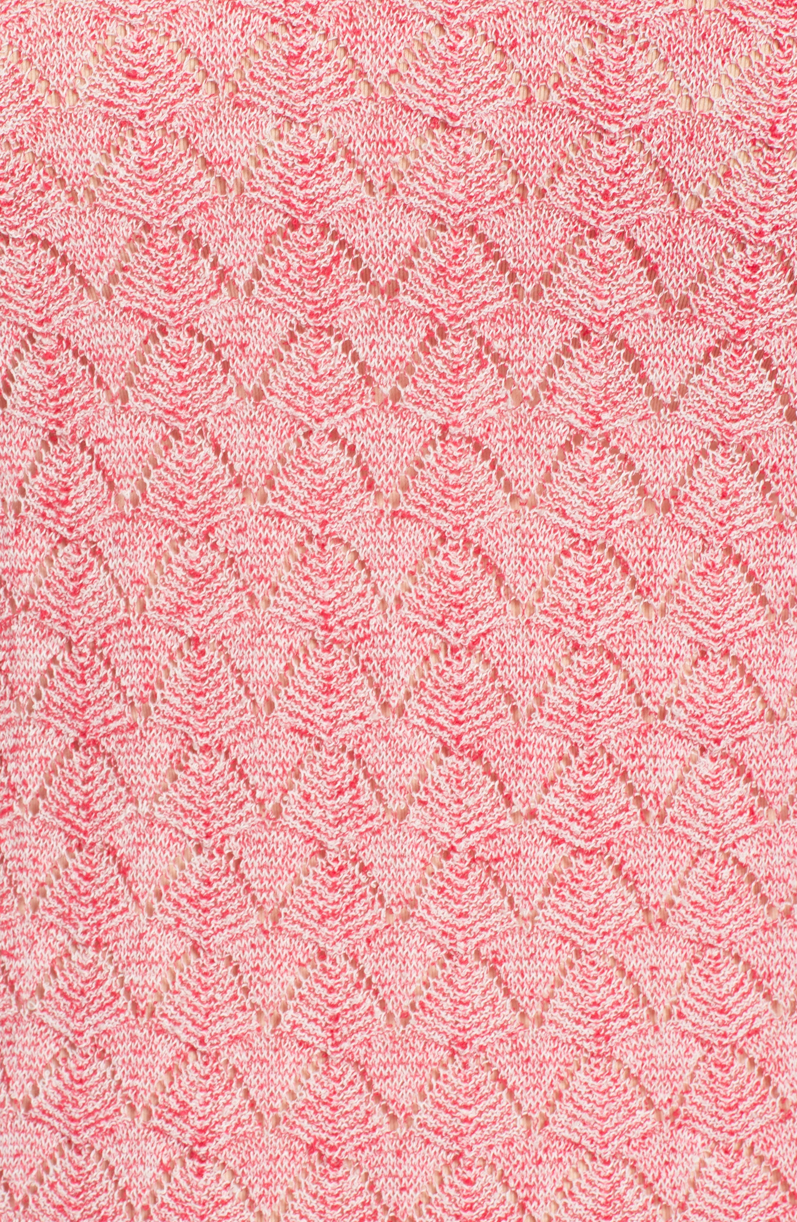 Basket Weave Sweater,                             Alternate thumbnail 6, color,                             Lychee Fantasy