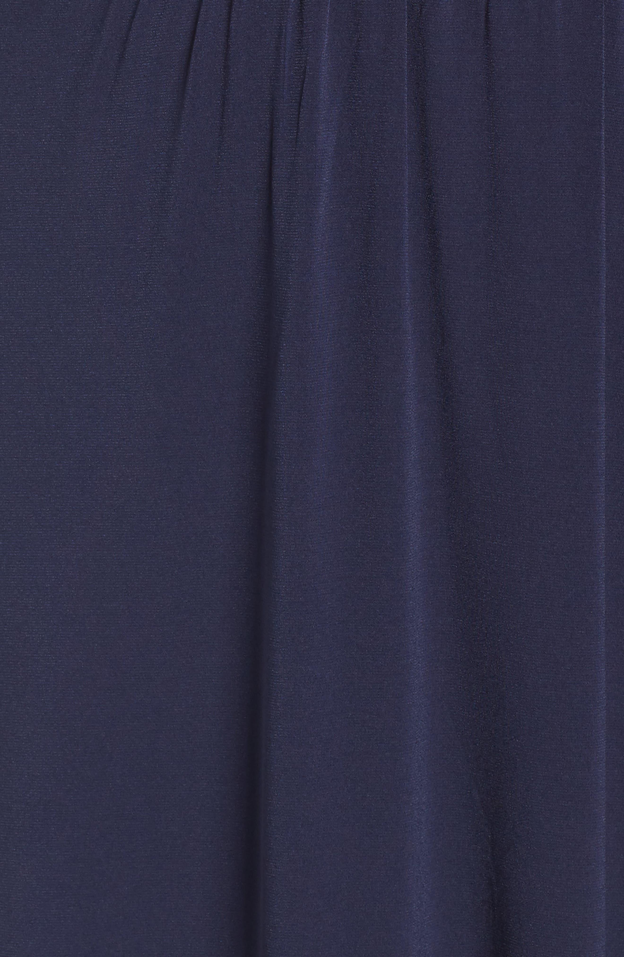 Slit Faux Wrap Maxi Dress,                             Alternate thumbnail 6, color,                             True Navy