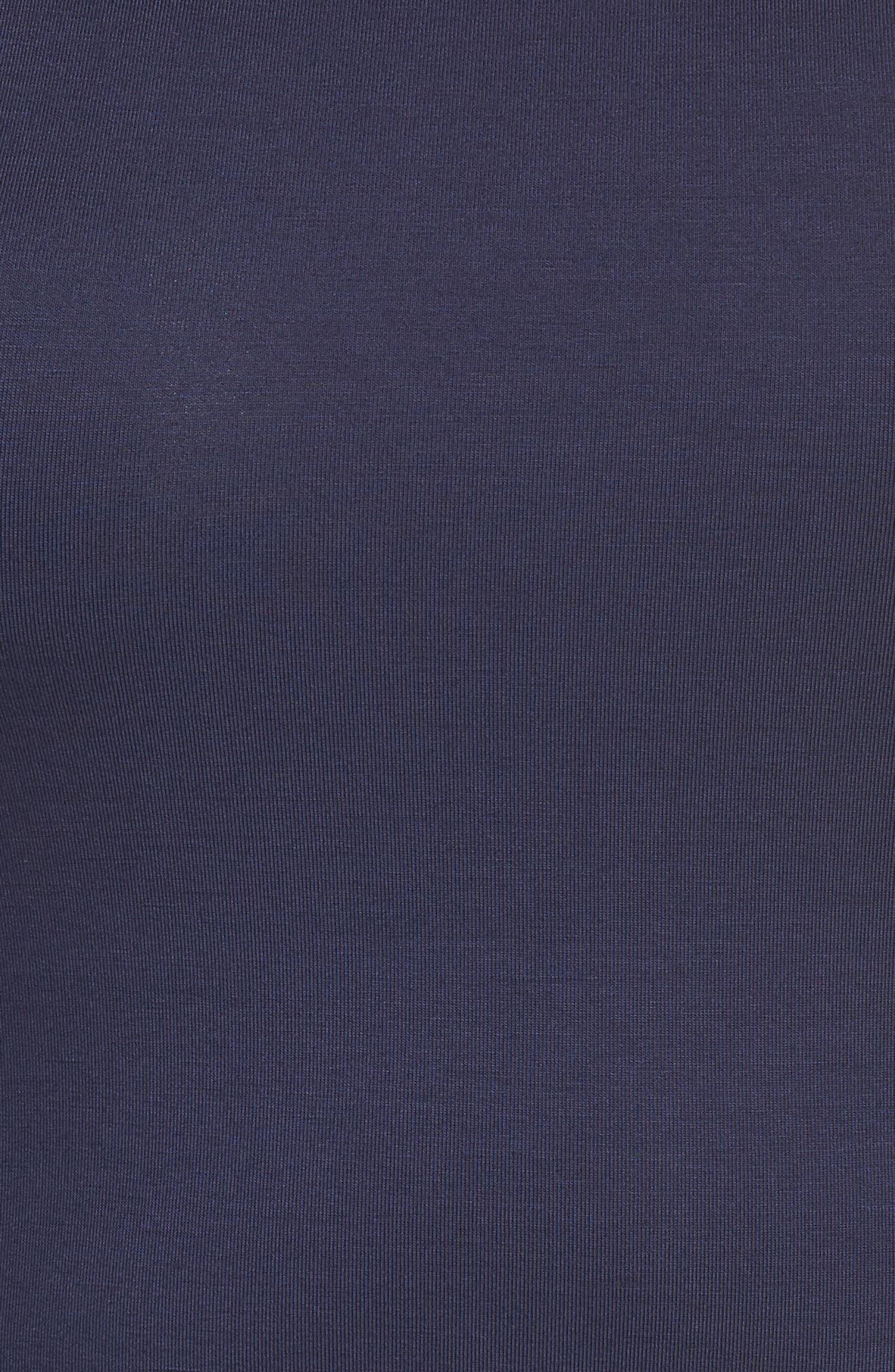 Metallic Crewneck Shift Dress,                             Alternate thumbnail 6, color,                             True Navy