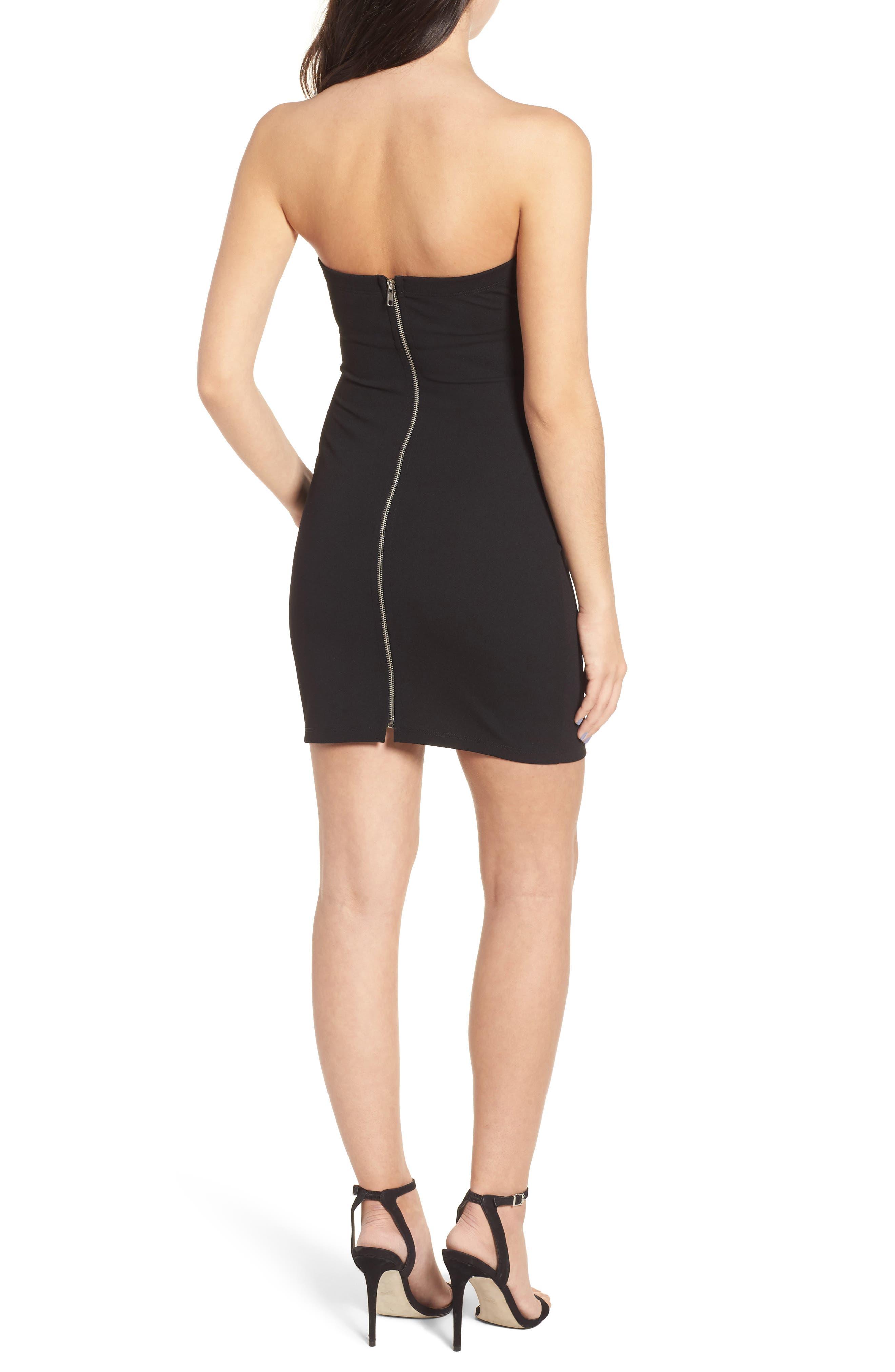 Tube Dress,                             Alternate thumbnail 2, color,                             Black