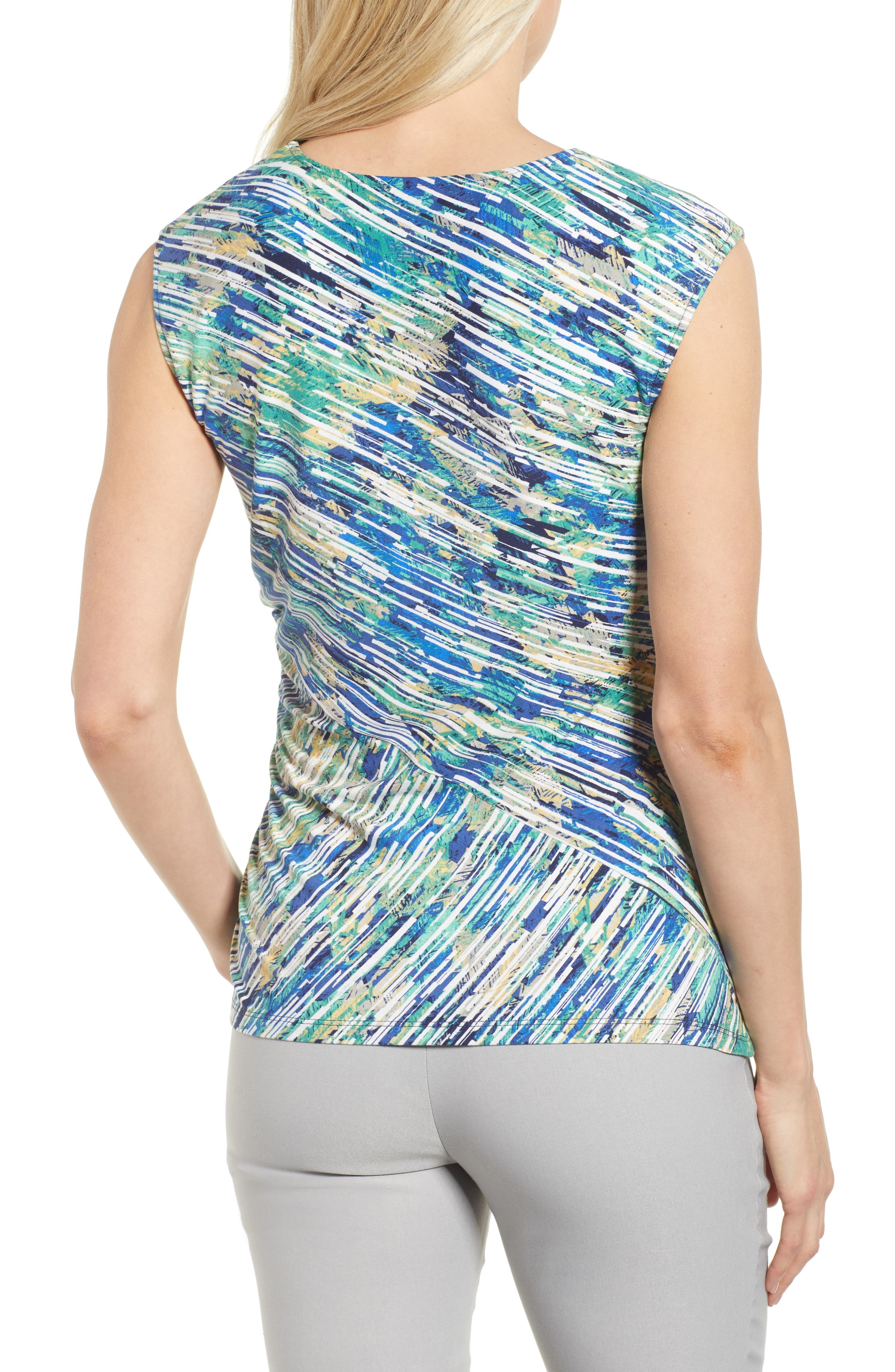 Mirage Ruched Tank,                             Alternate thumbnail 2, color,                             Multi