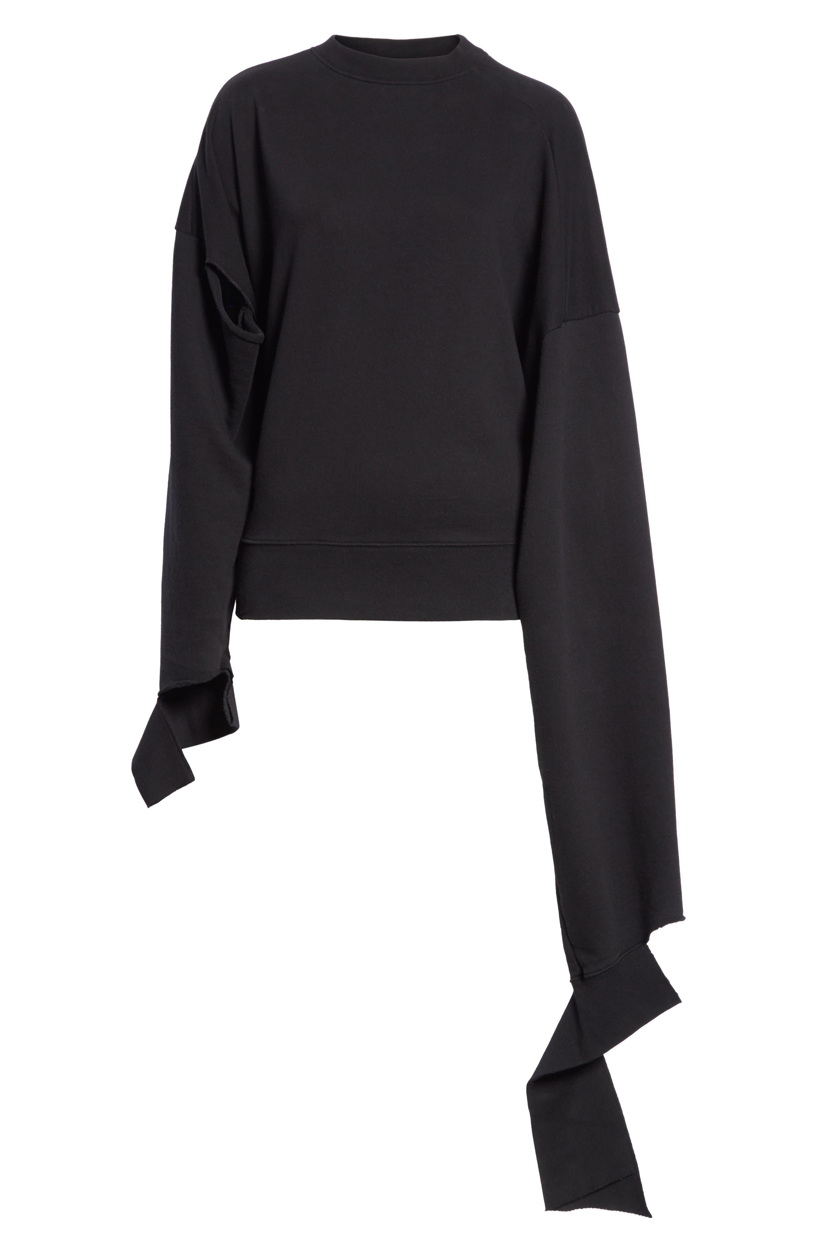 In Progress Crewneck Sweatshirt,                             Alternate thumbnail 6, color,                             Black