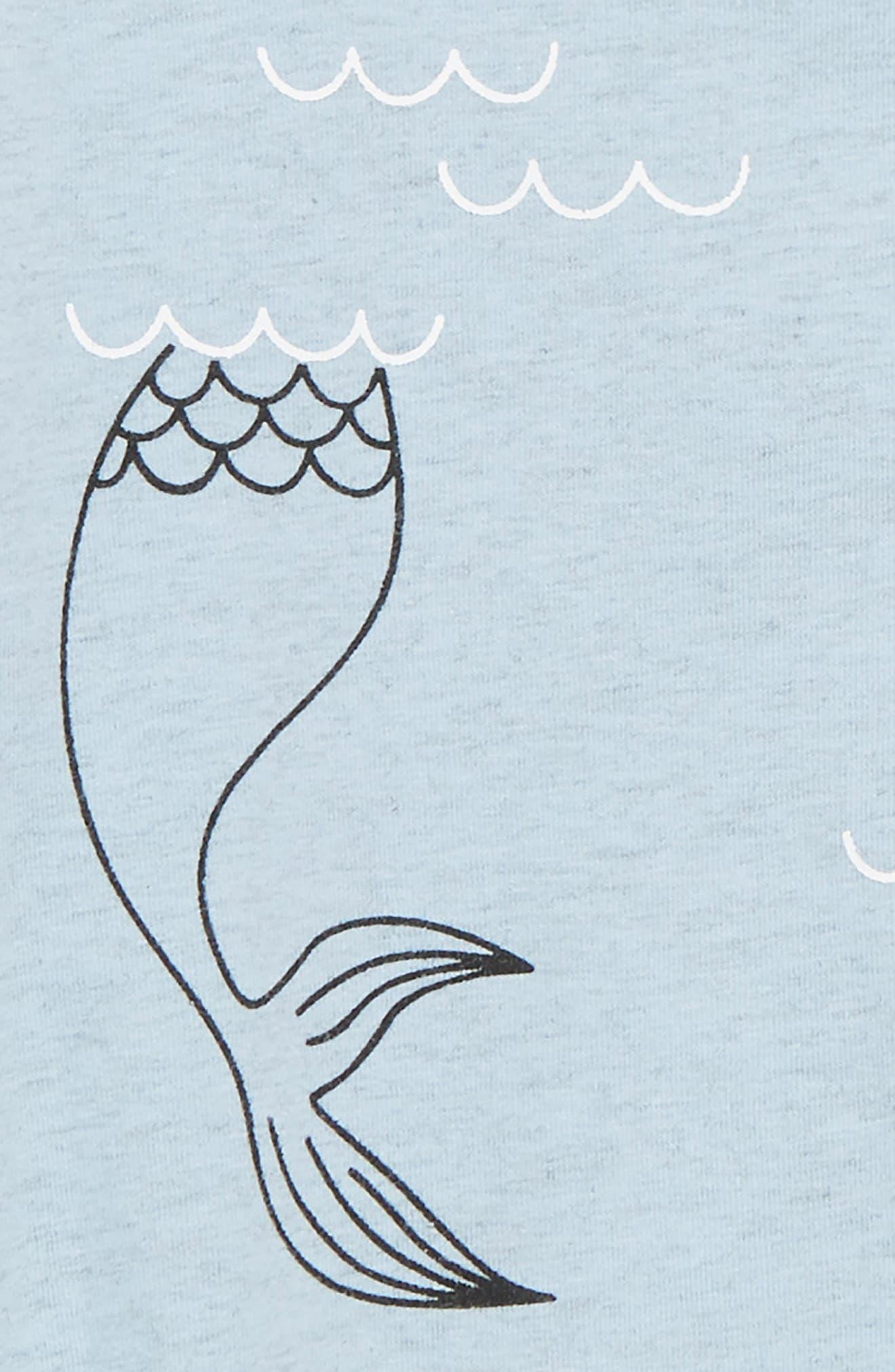 Mermaid Romper,                             Alternate thumbnail 2, color,                             Blue Marl