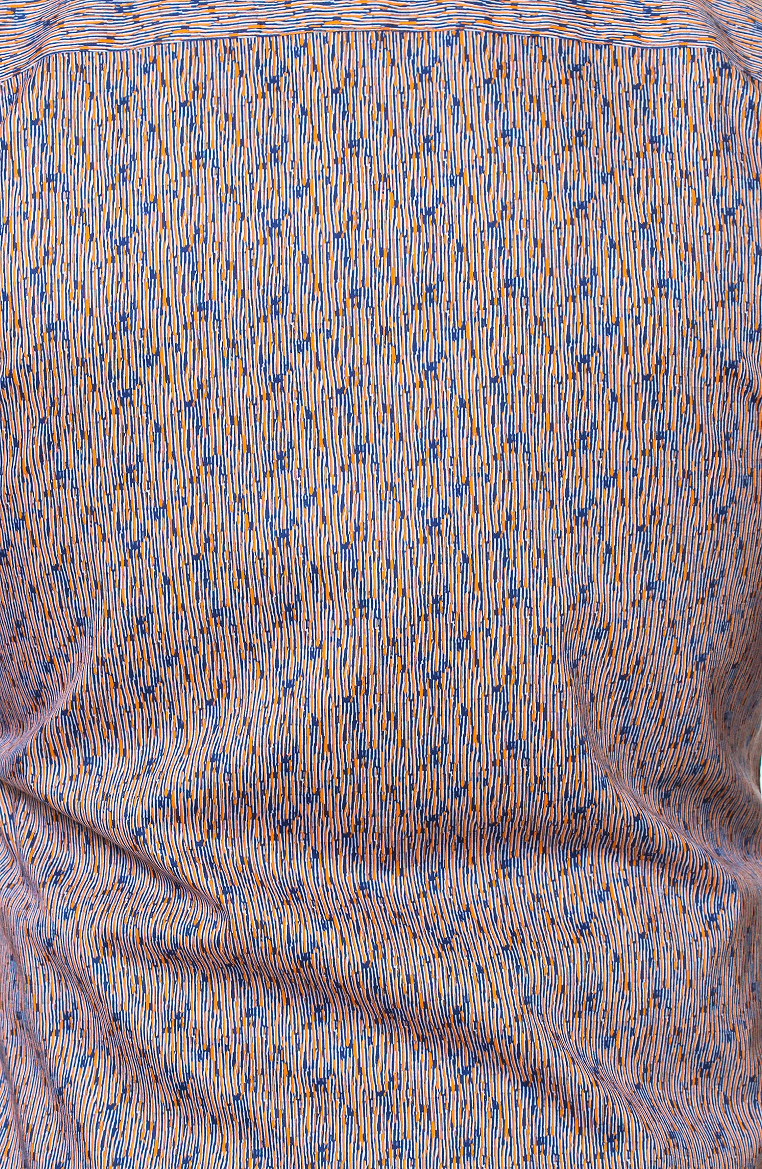 Luxor Strokes Slim Fit Sport Shirt,                             Alternate thumbnail 4, color,                             Orange
