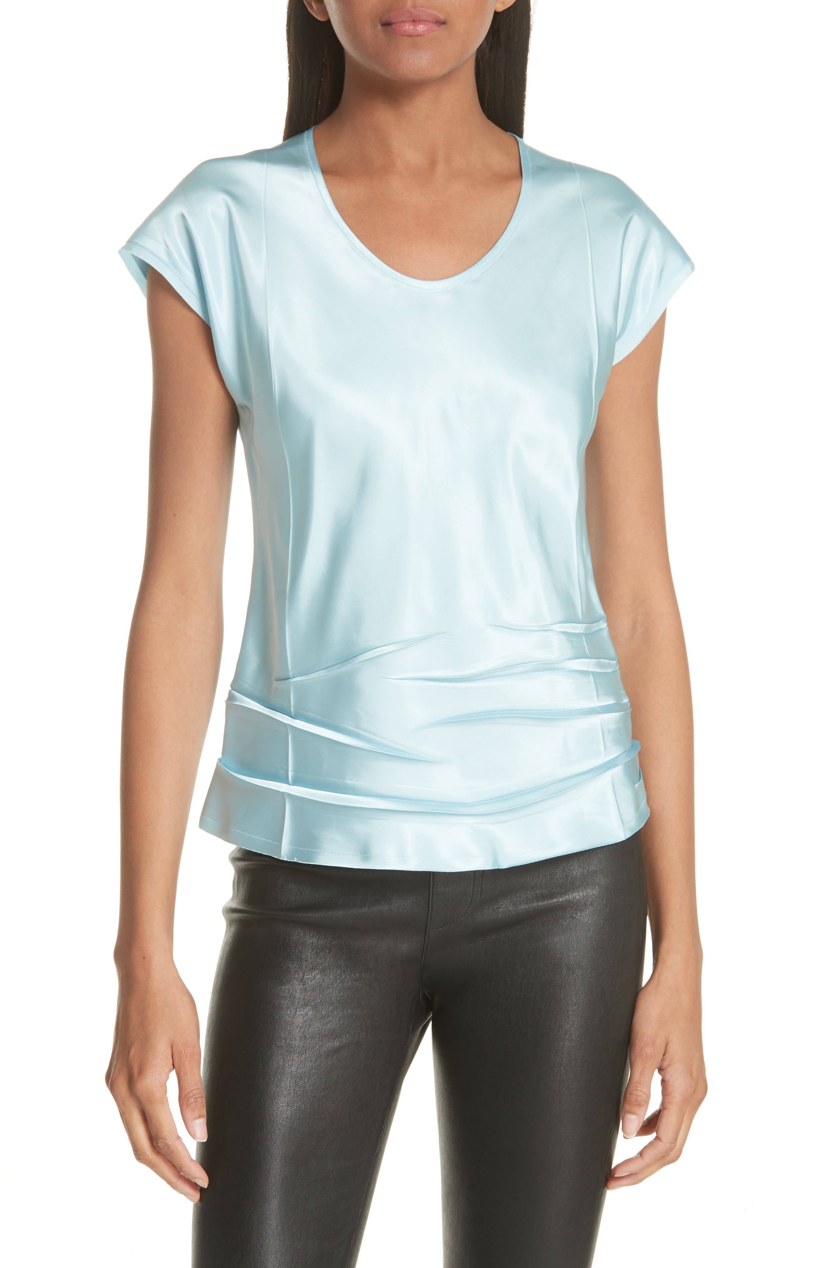 Helmut Lang Bias Cut Satin Top