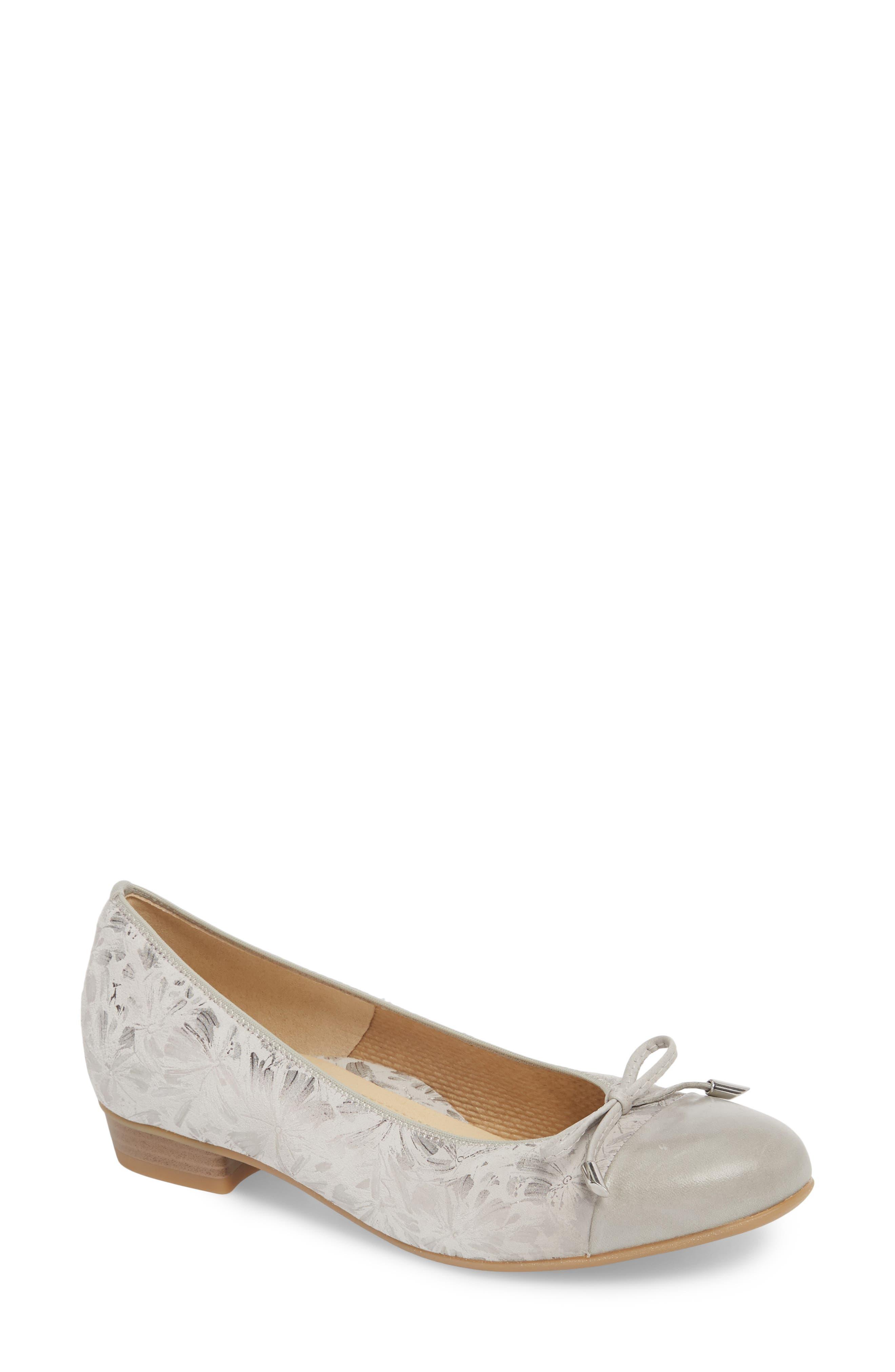 Ballet Flats Ballerina Shoes for Women On Sale, Natural, Fur, 2017, 3.5 Francesco Russo