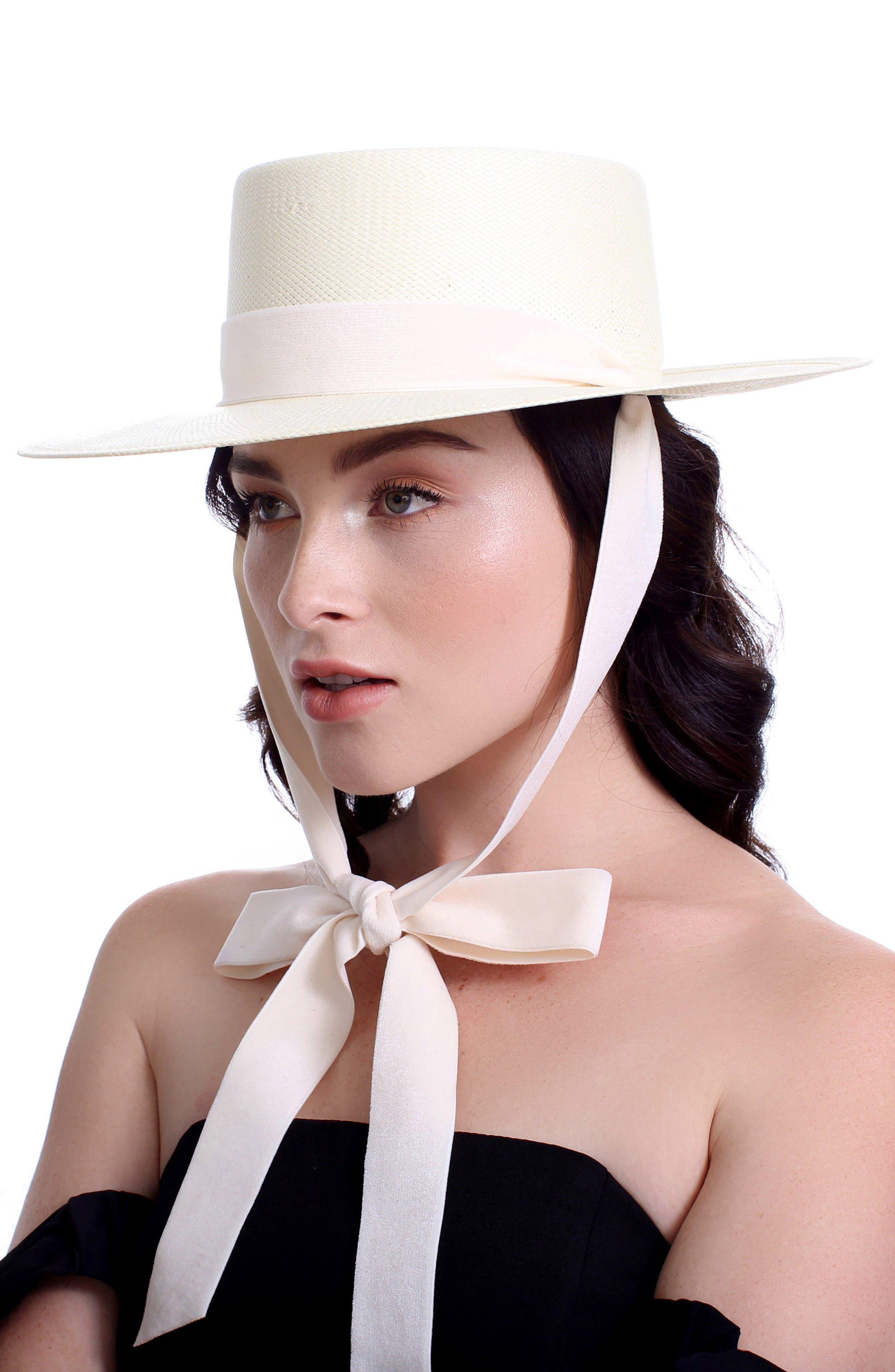 The Heiress Straw Bolero Hat,                             Alternate thumbnail 3, color,                             Ivory