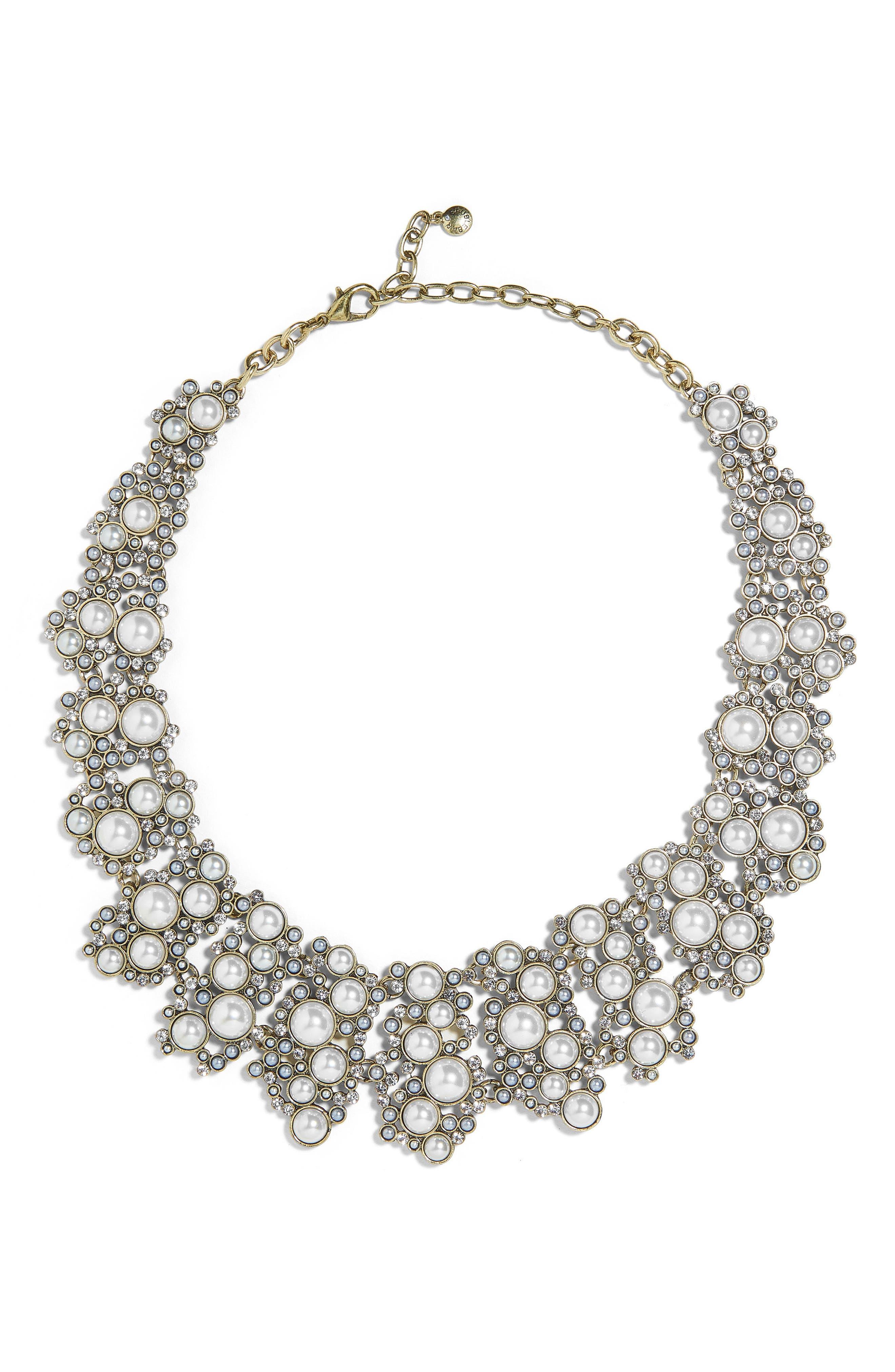 Julianna Statement Collar Necklace,                         Main,                         color, White
