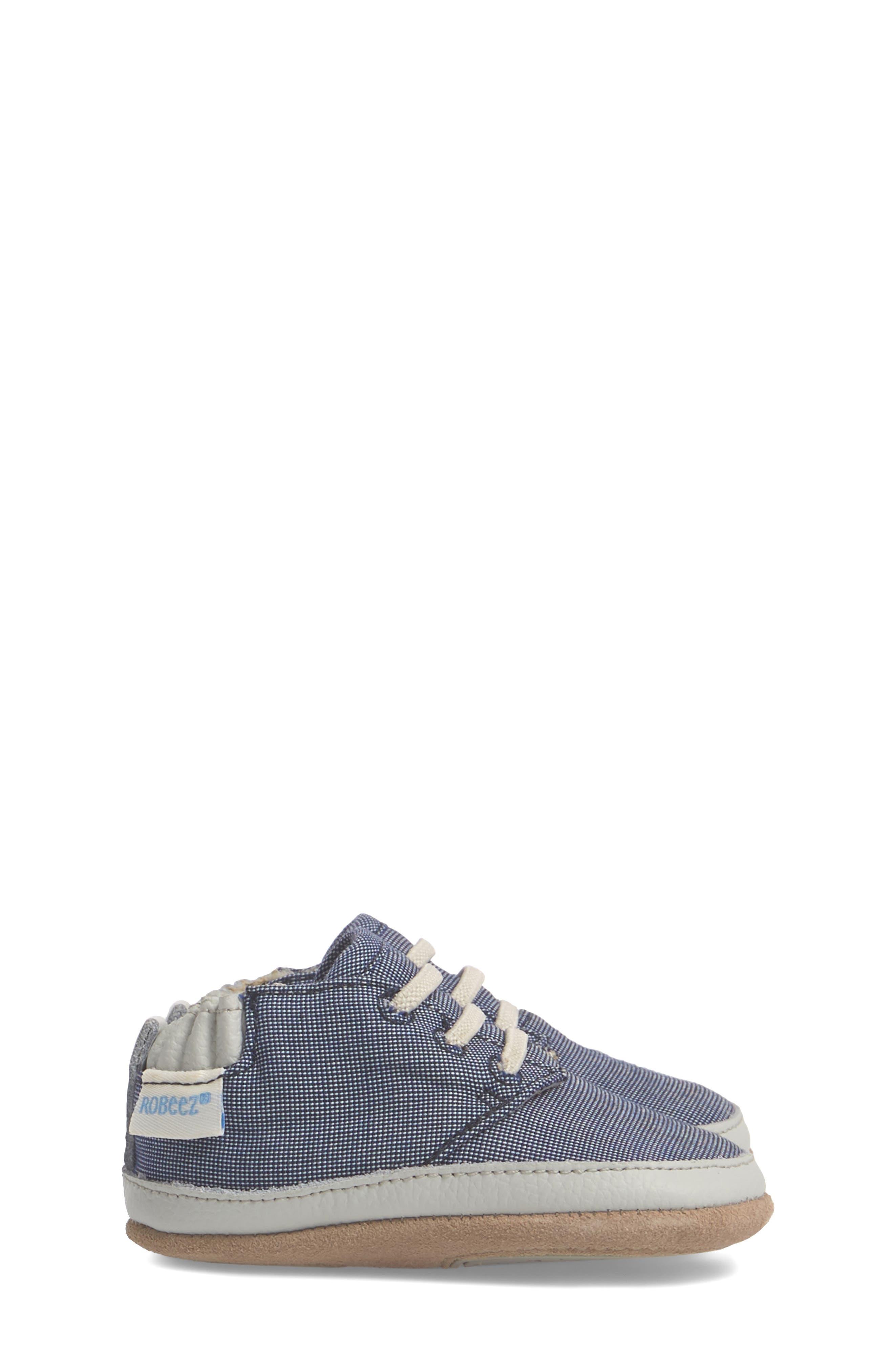 Steven Crib Sneaker,                             Alternate thumbnail 4, color,                             Denim