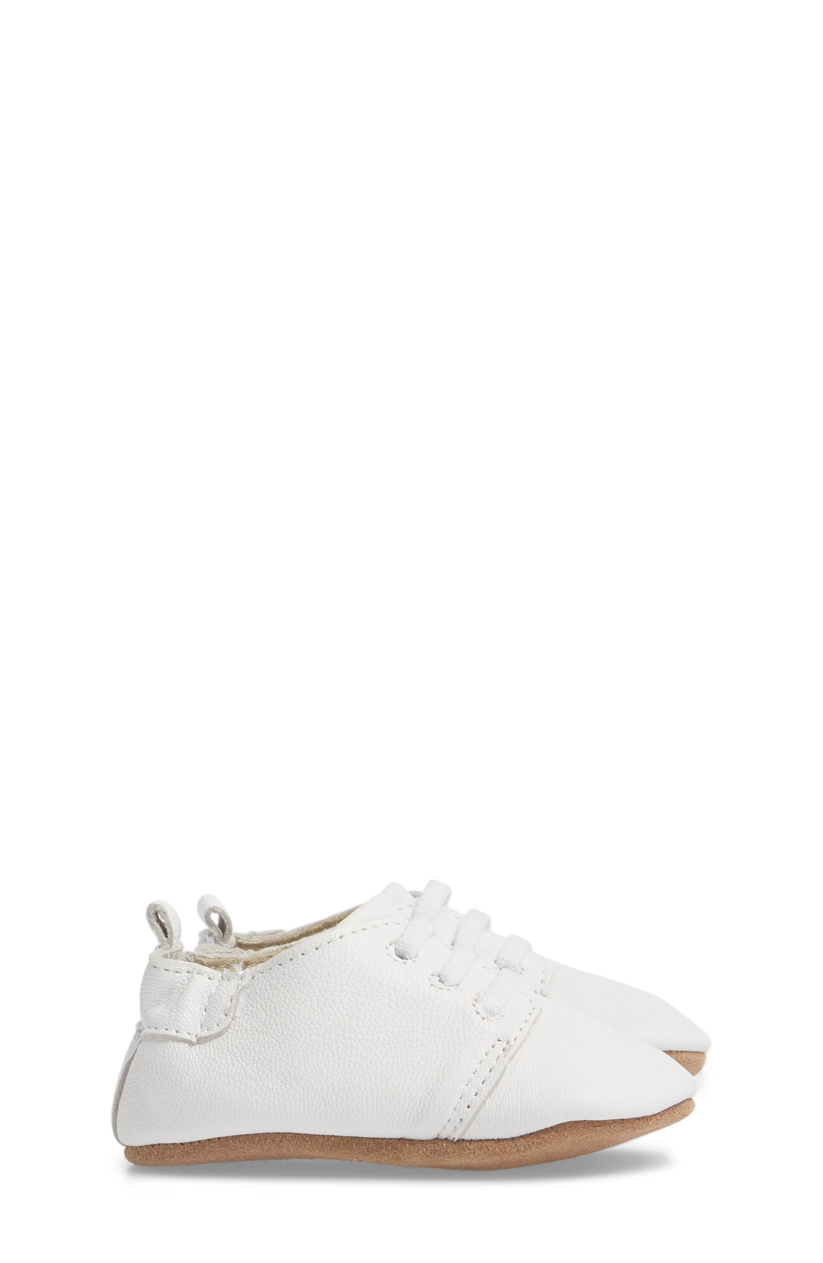Owen Oxford Crib Shoe,                             Alternate thumbnail 4, color,                             White