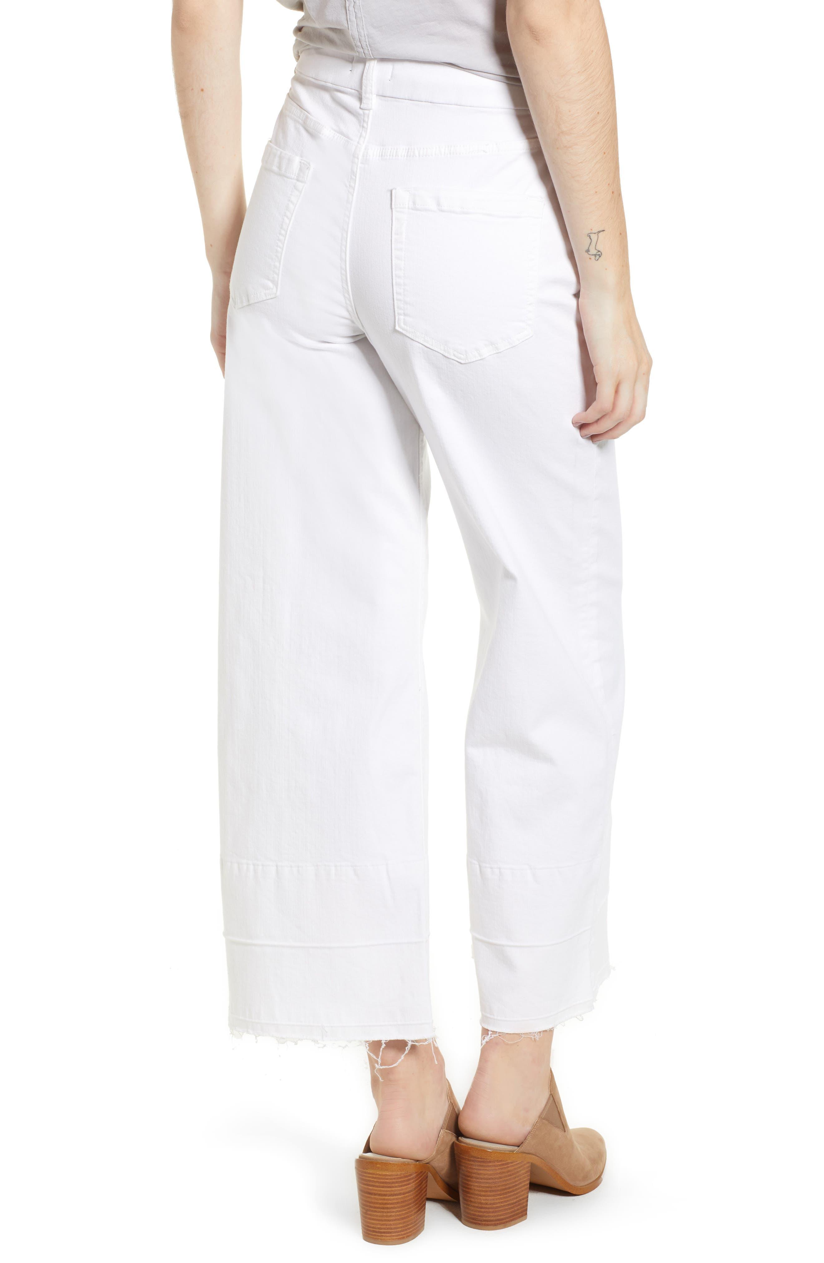 Released Hem Wide Leg Jeans,                             Alternate thumbnail 2, color,                             Ultra White