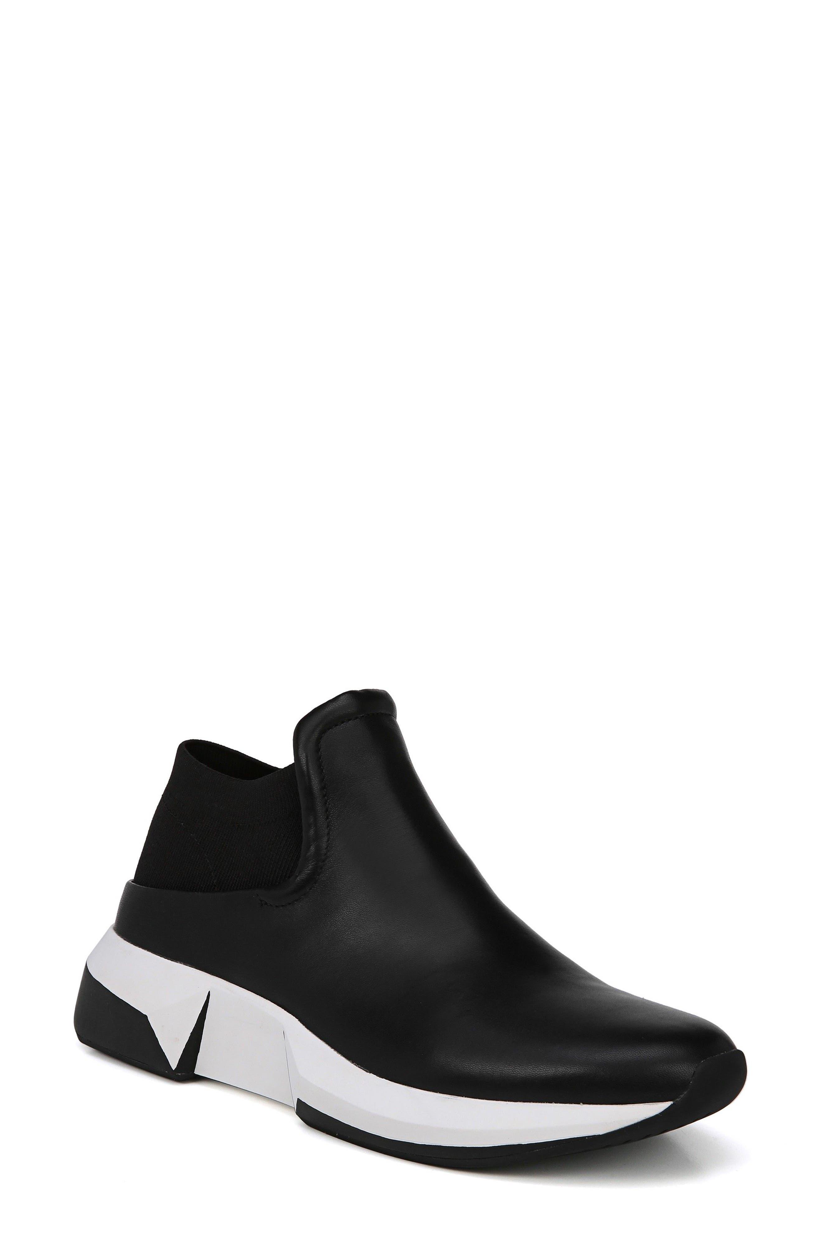 Veila Slip-On Sneaker,                             Main thumbnail 1, color,                             Black Leather