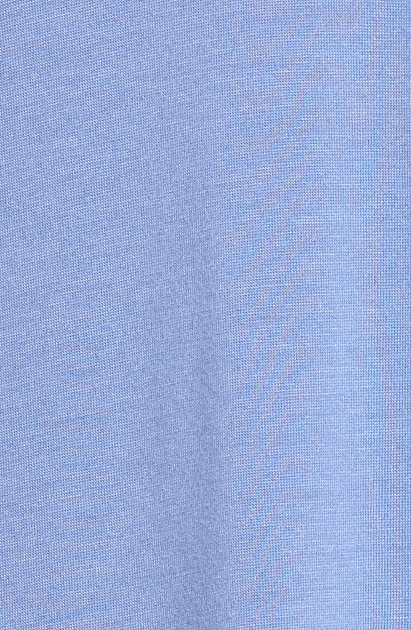 'Zen Floral' Pajama Set,                             Alternate thumbnail 6, color,                             Wedgewood