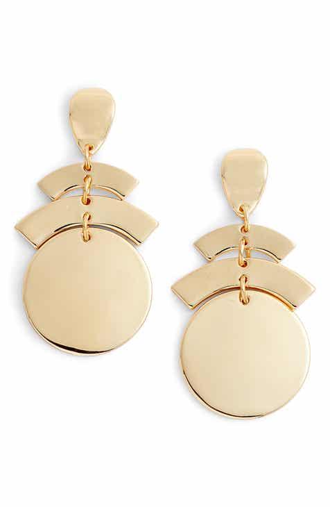 Halogen Geo Chandelier Earrings