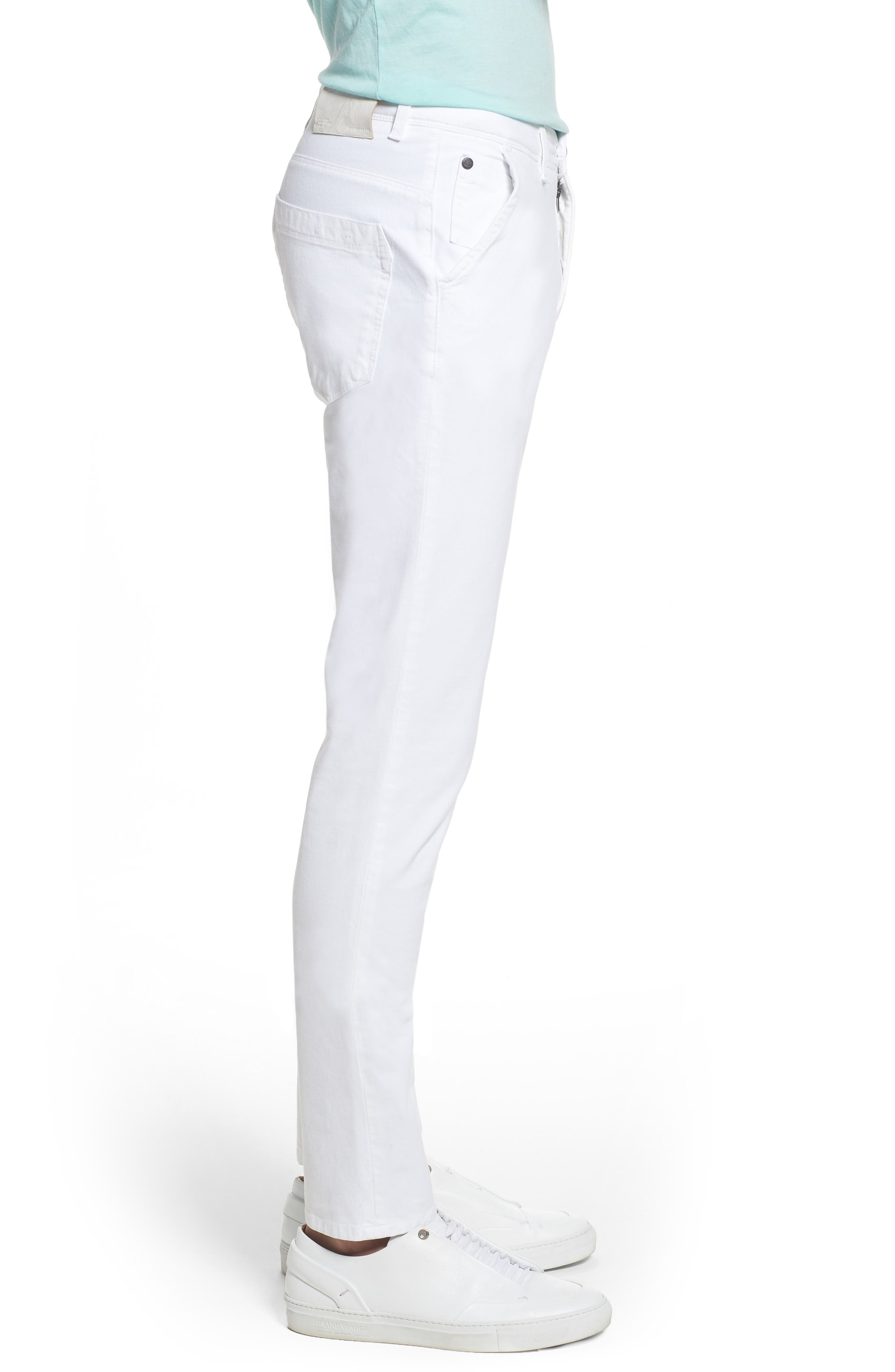 Hybrid Slim Fit Stretch Pants,                             Alternate thumbnail 3, color,                             White