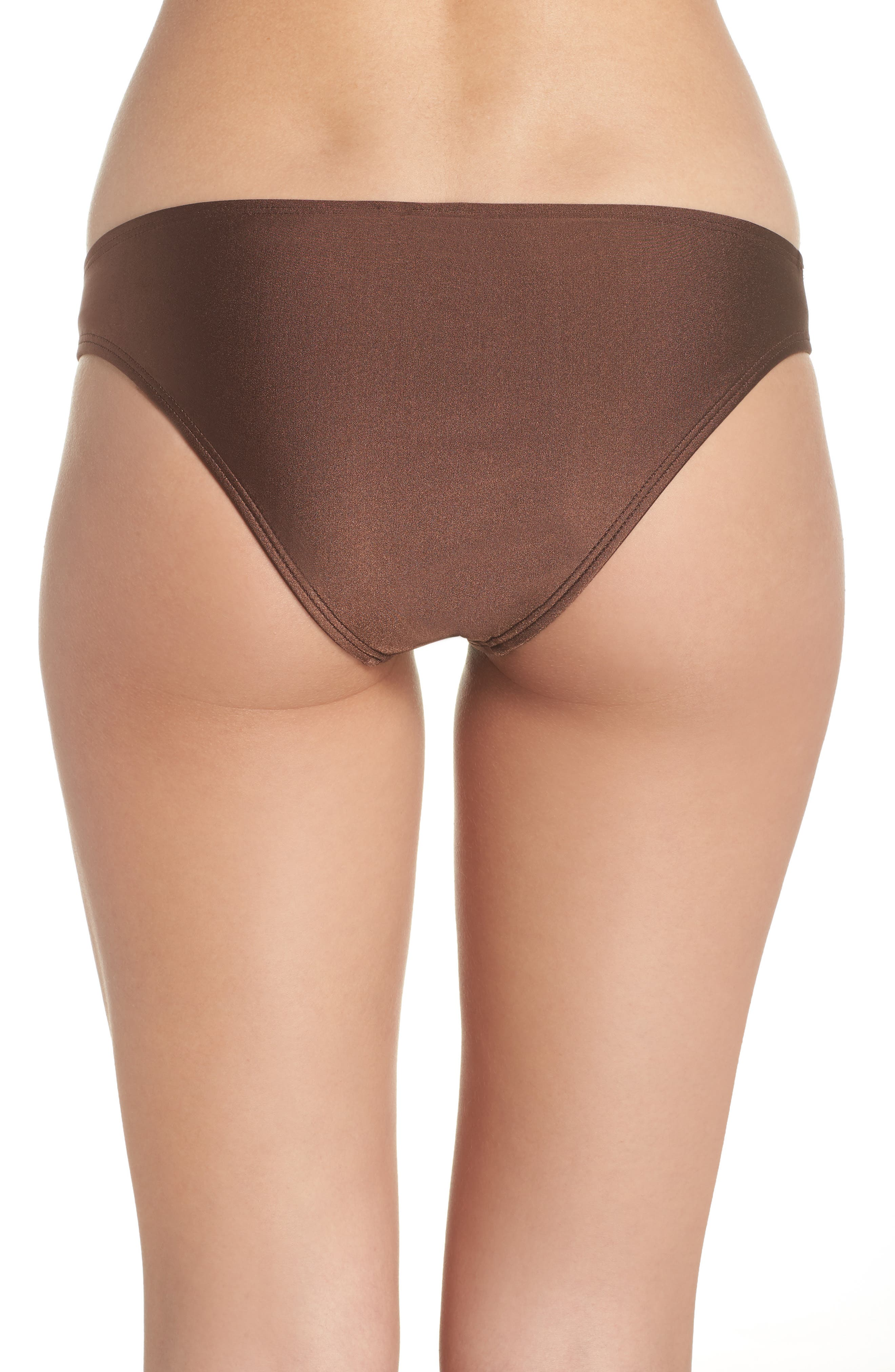 Banded Hipster Bikini Bottoms,                             Alternate thumbnail 2, color,                             Chocolate Glint