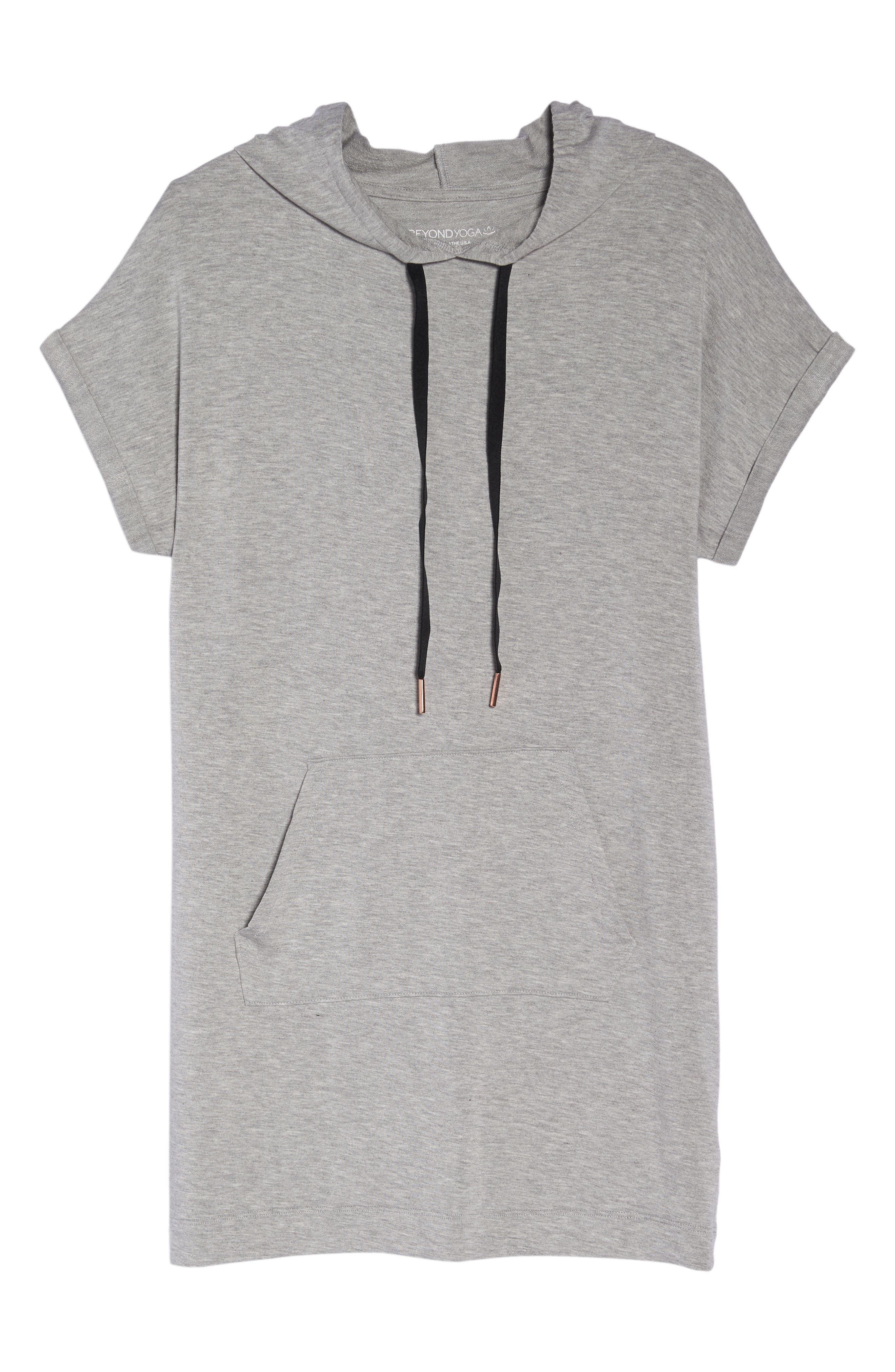 It's All Hoodie Hooded Sweatshirt Dress,                             Alternate thumbnail 7, color,                             Light Heather Gray