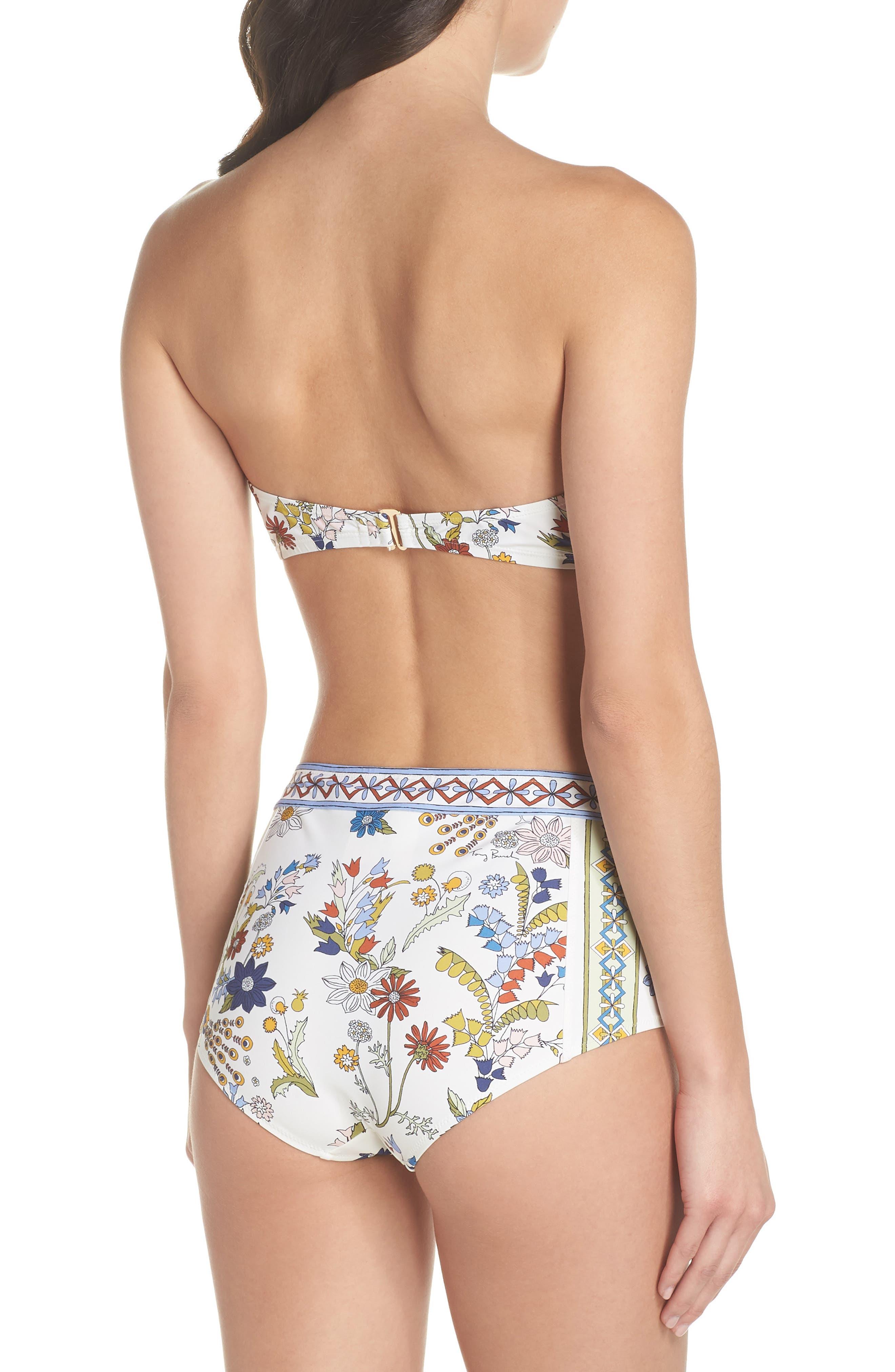Meadow Folly Bikini Top,                             Alternate thumbnail 5, color,                             Ivory Meadow Folly