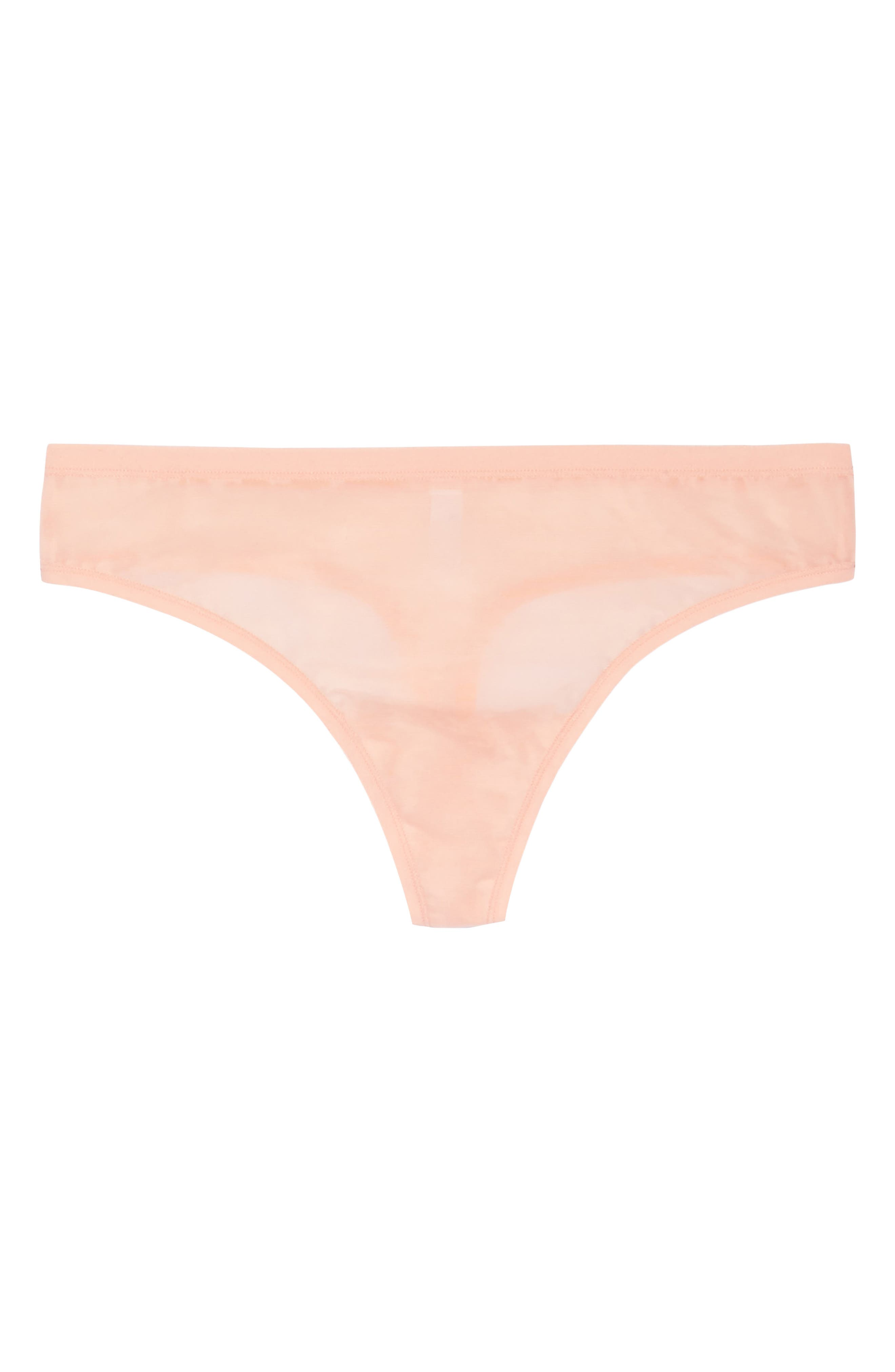Bliss Light Thong,                             Alternate thumbnail 4, color,                             Creamsicle