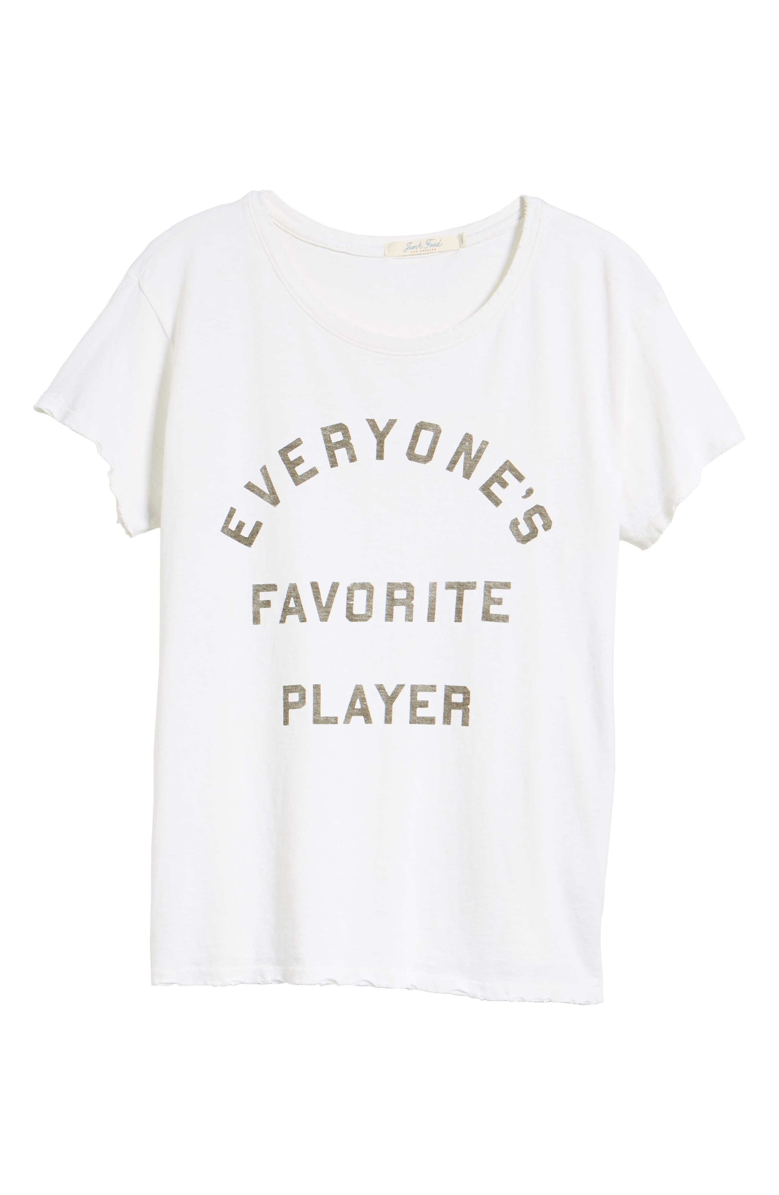 Everyone's Favorite Player Tee,                             Alternate thumbnail 7, color,                             Vintage White
