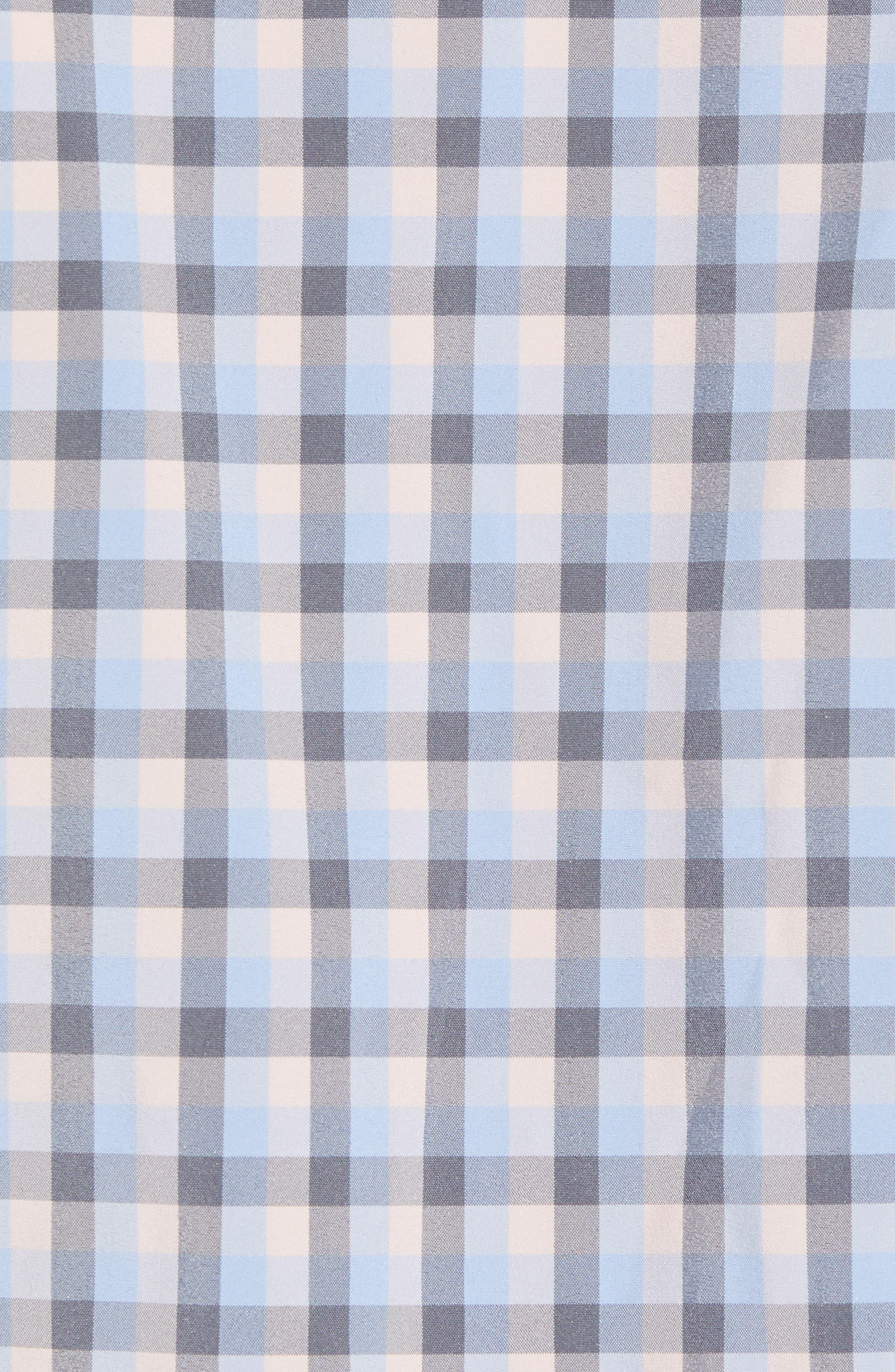 Briscoe Slim Fit Check Performance Sport Shirt,                             Alternate thumbnail 5, color,                             Pink