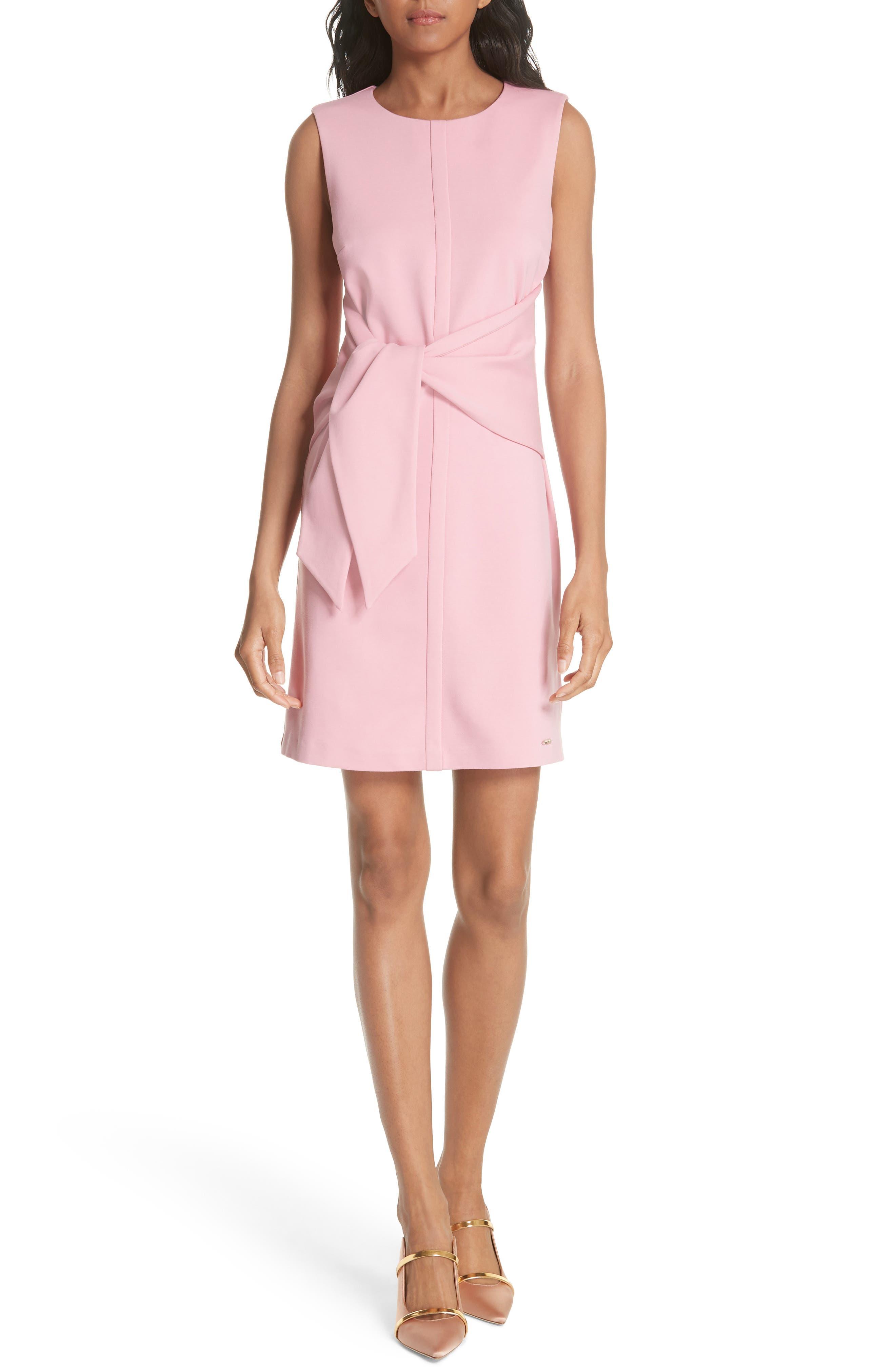 Papron Tie Front Dress,                             Main thumbnail 1, color,                             Pink
