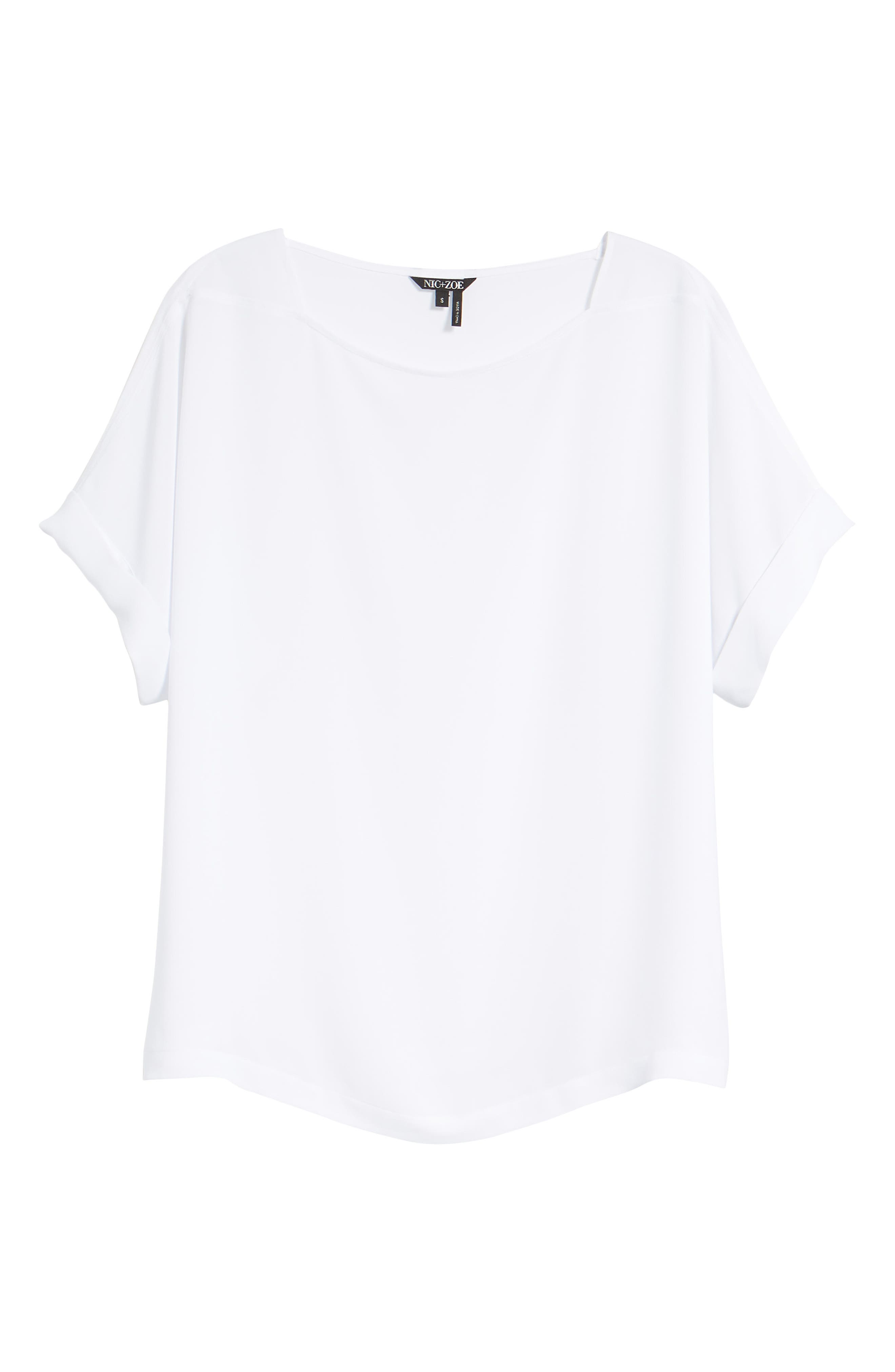 NIC + ZOE Moroccan Tee,                             Main thumbnail 1, color,                             Paper White