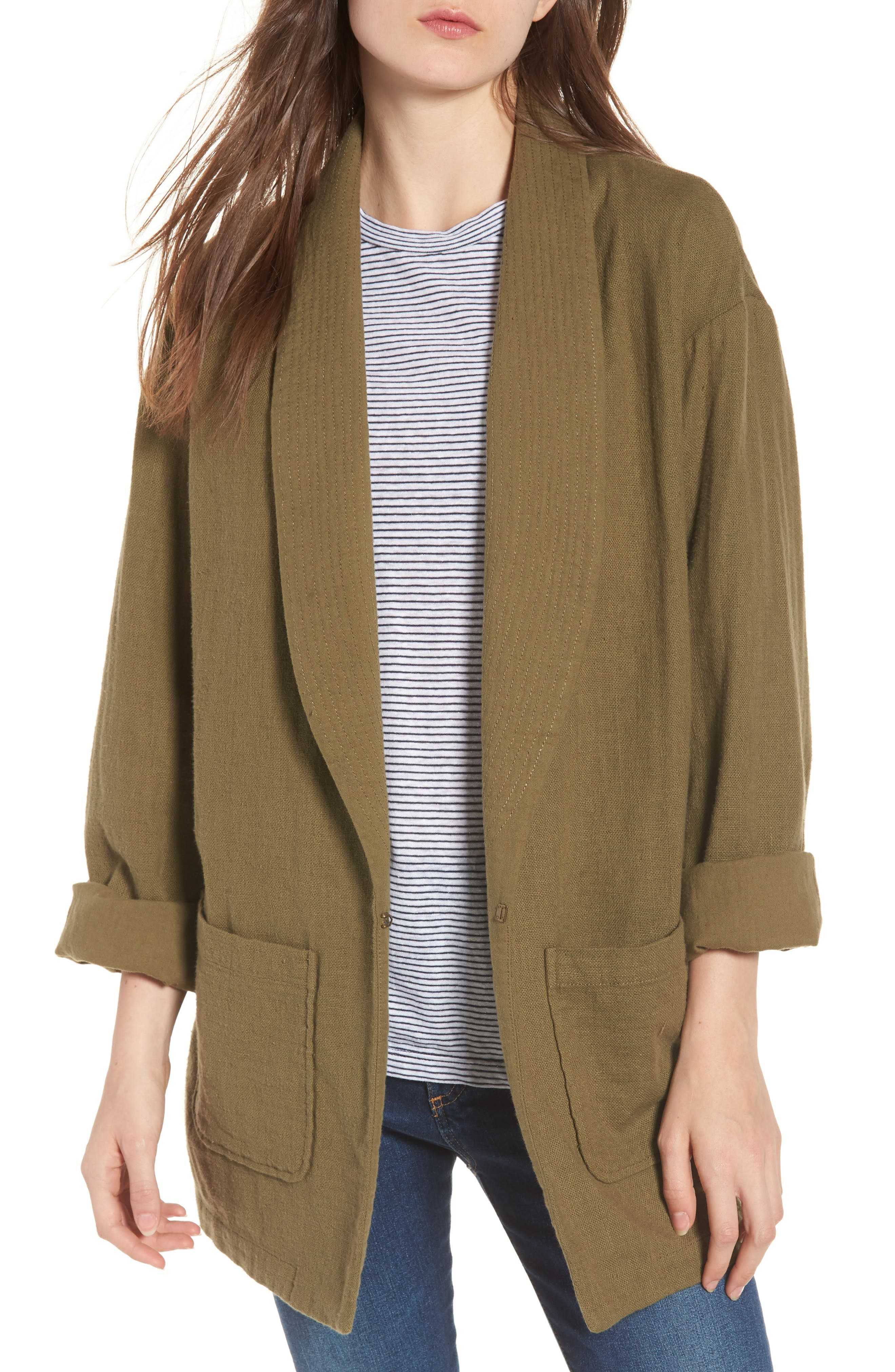Maura Jacket,                         Main,                         color, Olive Grove