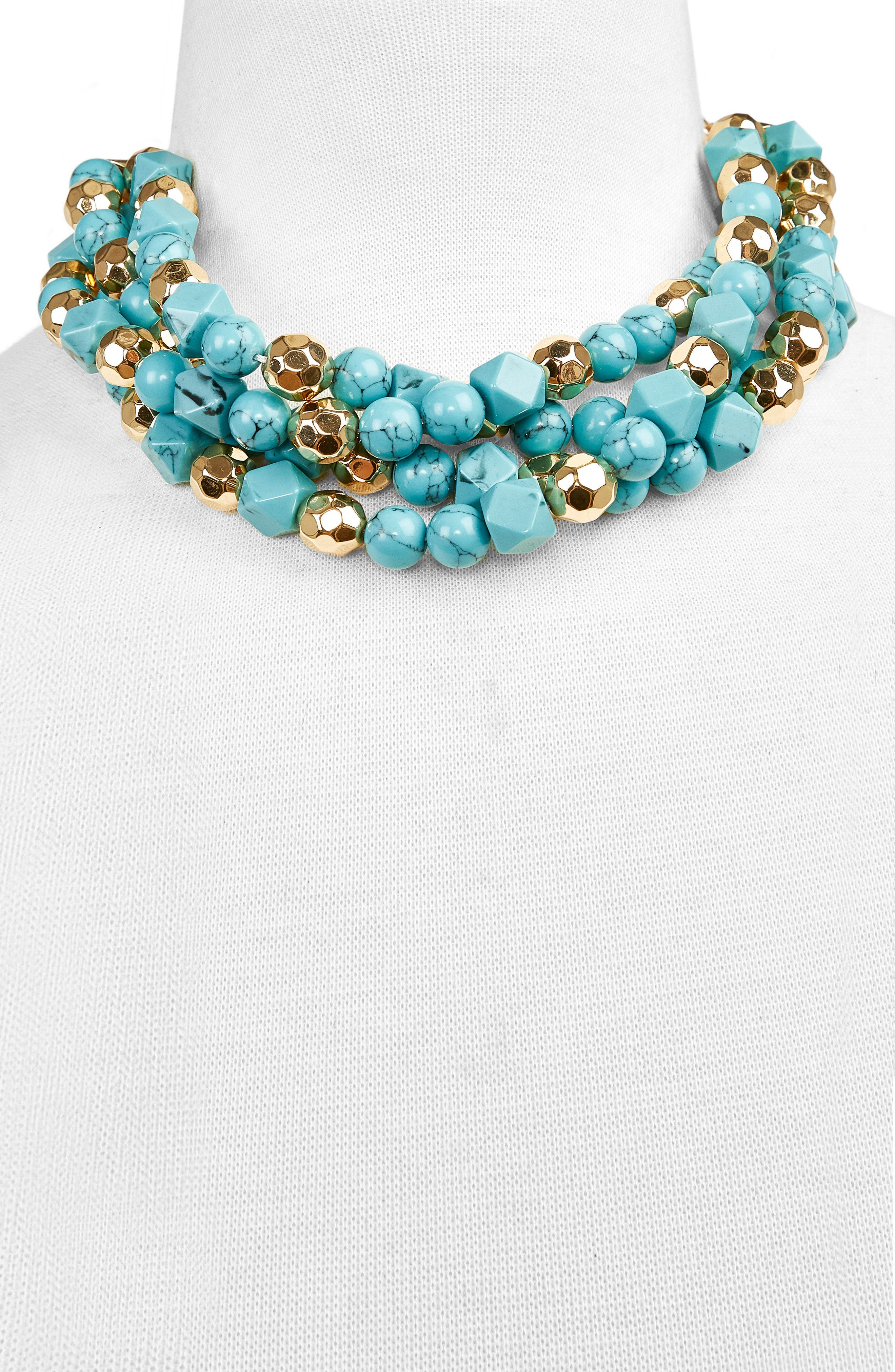 Cytherea Statement Necklace,                             Alternate thumbnail 2, color,                             Turquoise
