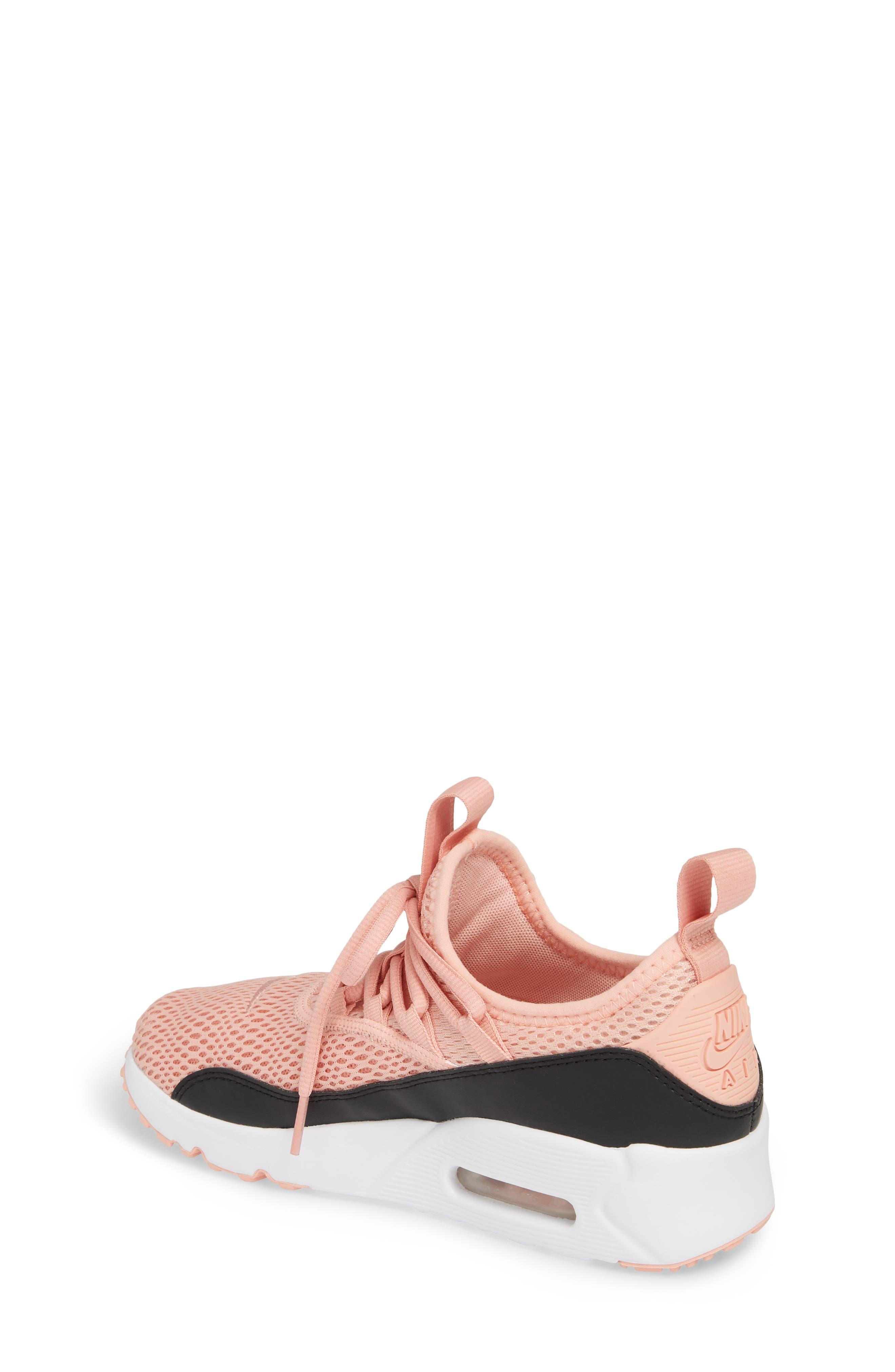 Air Max 90 EZ Sneaker,                             Alternate thumbnail 2, color,                             Coral Stardust/ Black
