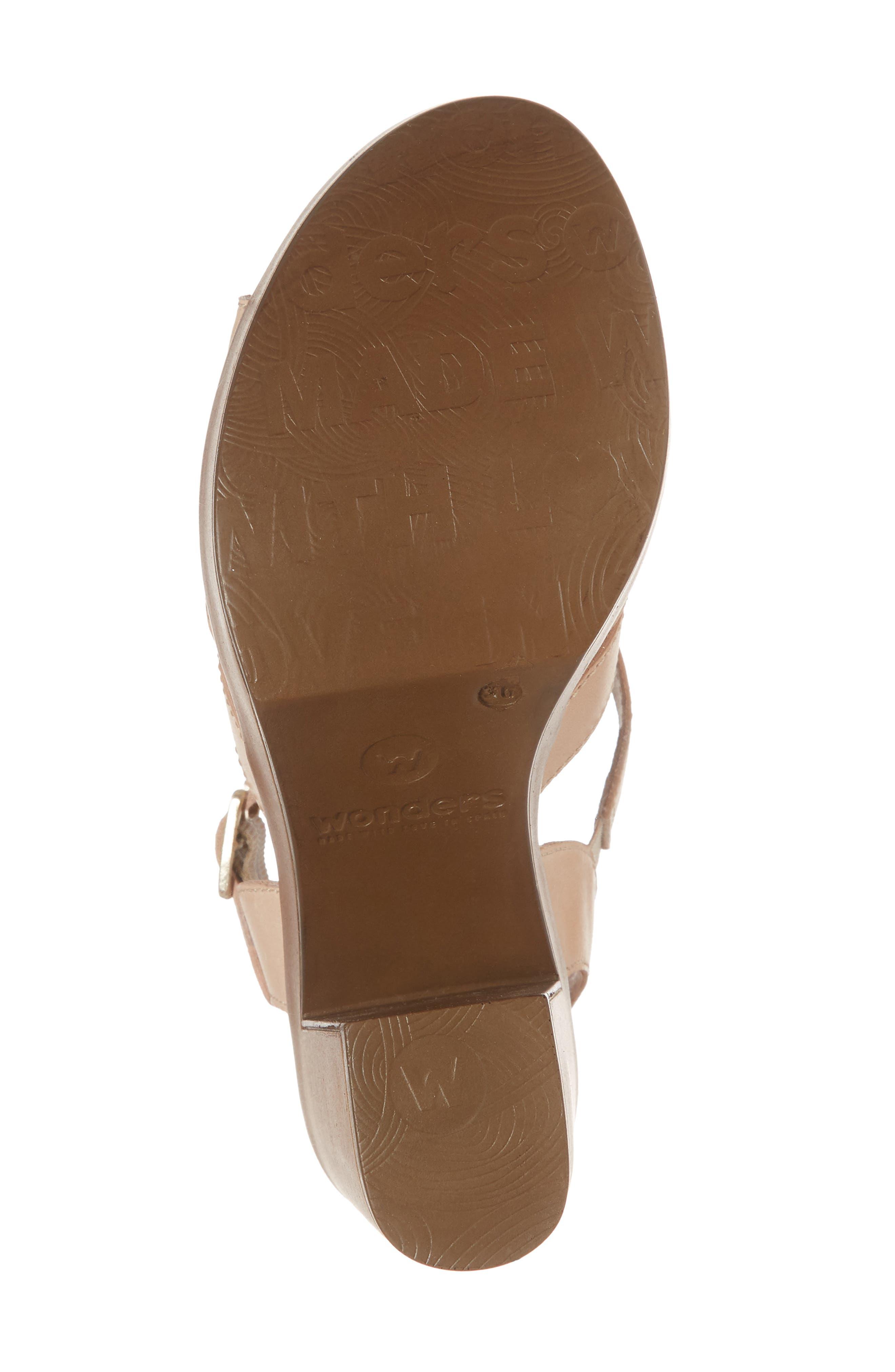 V-Strap Platform Sandal,                             Alternate thumbnail 6, color,                             Palo Leather