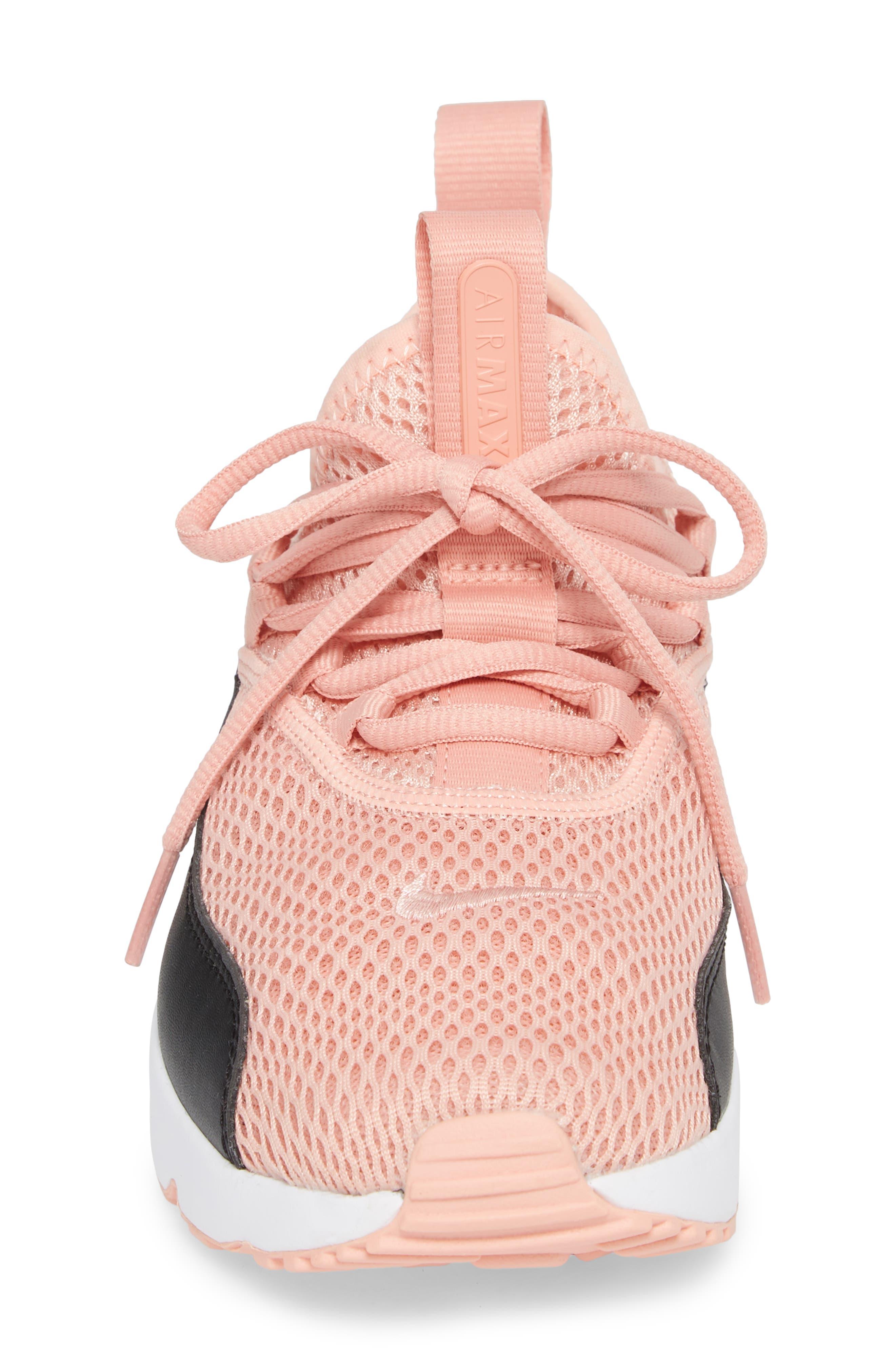Air Max 90 EZ Sneaker,                             Alternate thumbnail 4, color,                             Coral Stardust/ Black