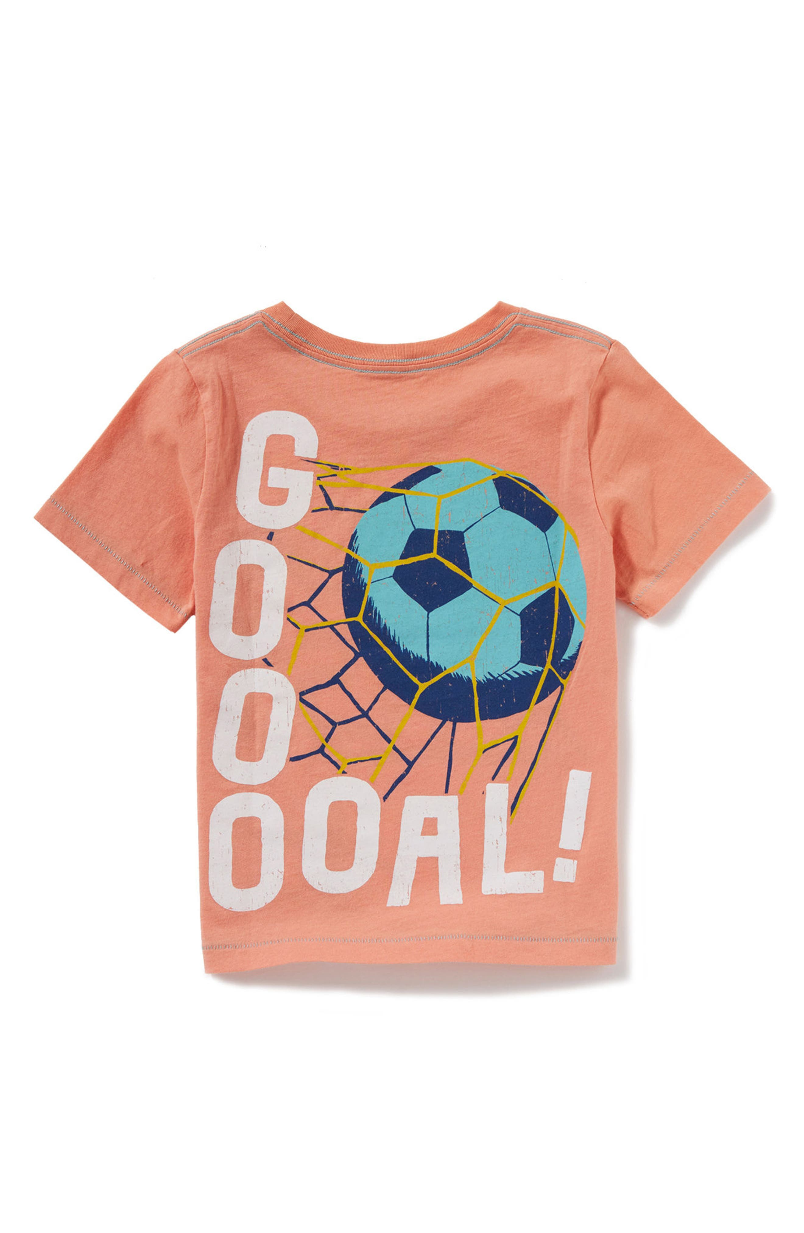 Run Pass Shoot Graphic T-Shirt,                             Alternate thumbnail 2, color,                             Peach